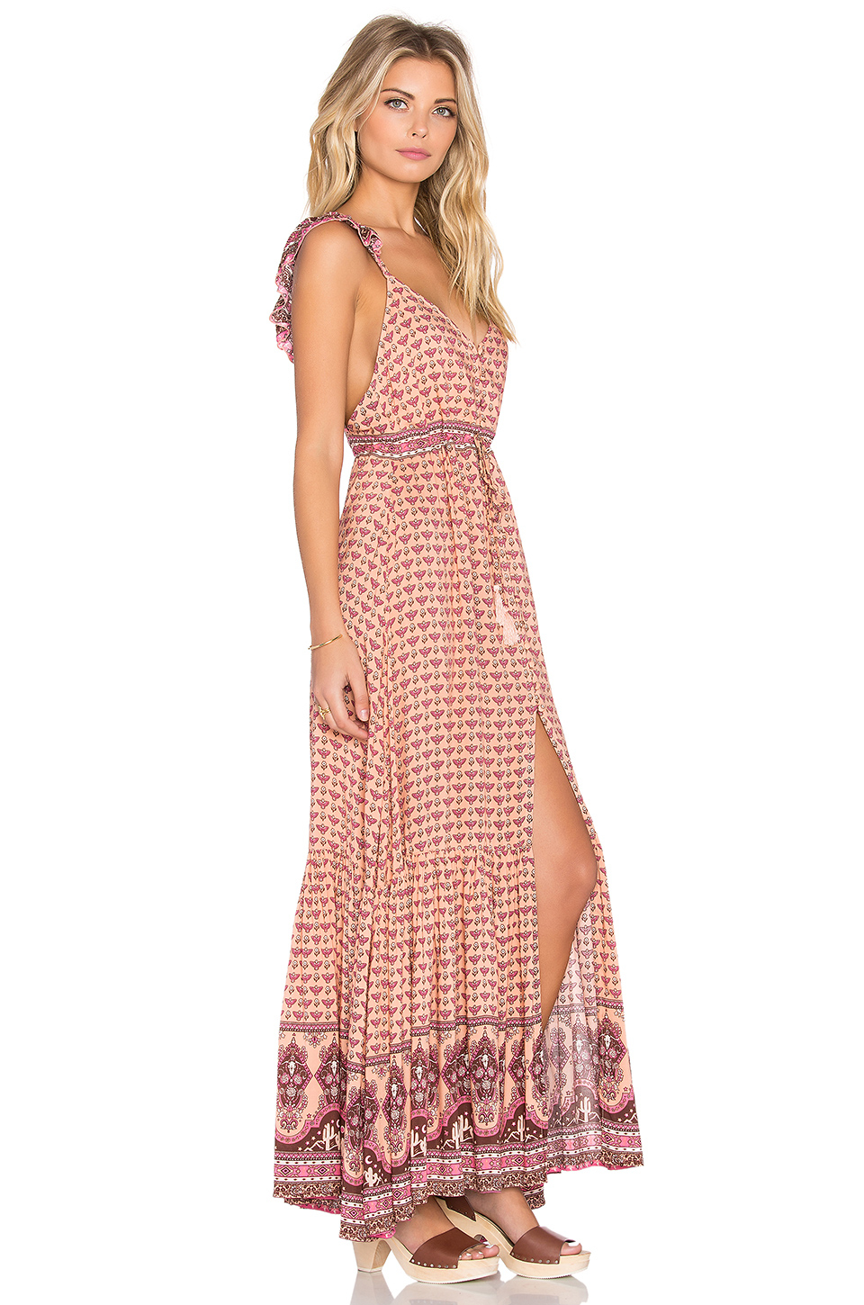 a40f5164485 Spell   The Gypsy Collective Sunset Road Maxi Dress in Pink - Lyst