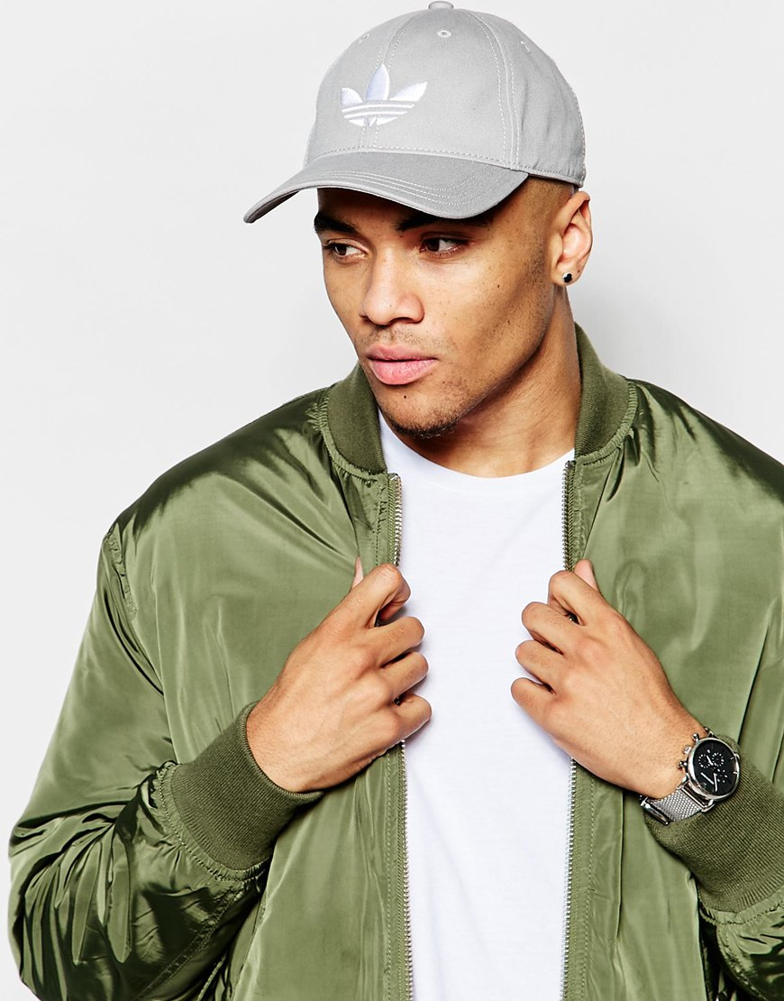 Lyst Adidas Originals Trefoil Cap In Grey In Gray For Men