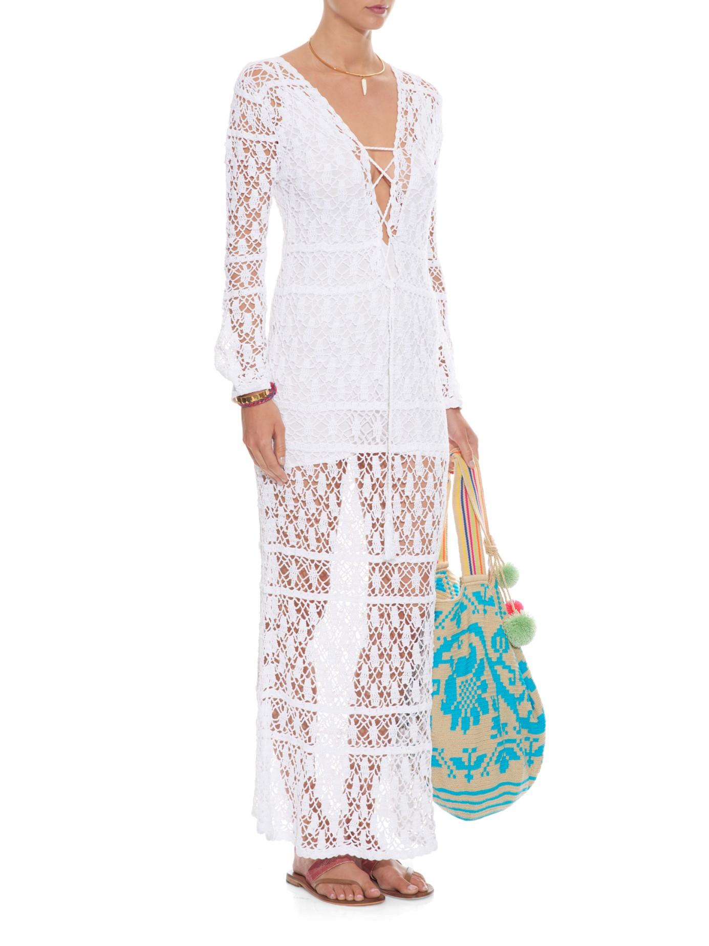 Marsala crochet maxi dress Anna Kosturova 9uh8Pm4