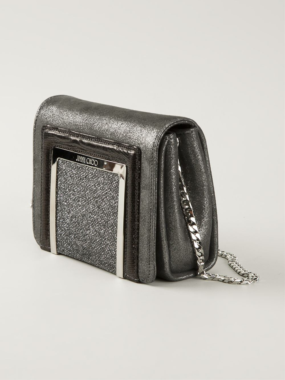 Jimmy Choo 'Ava' Cross Body Bag in Grey (Grey)