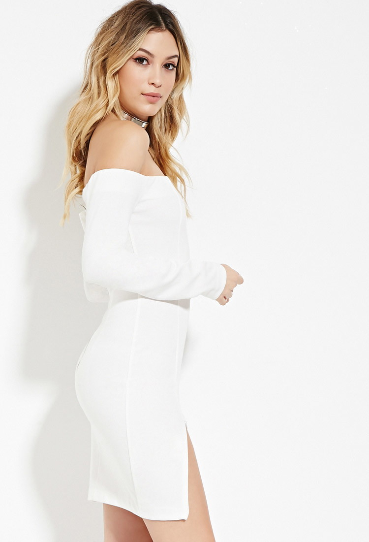 Lyst - Forever 21 Wyldr Bodycon Mini Dress in White- photo #50