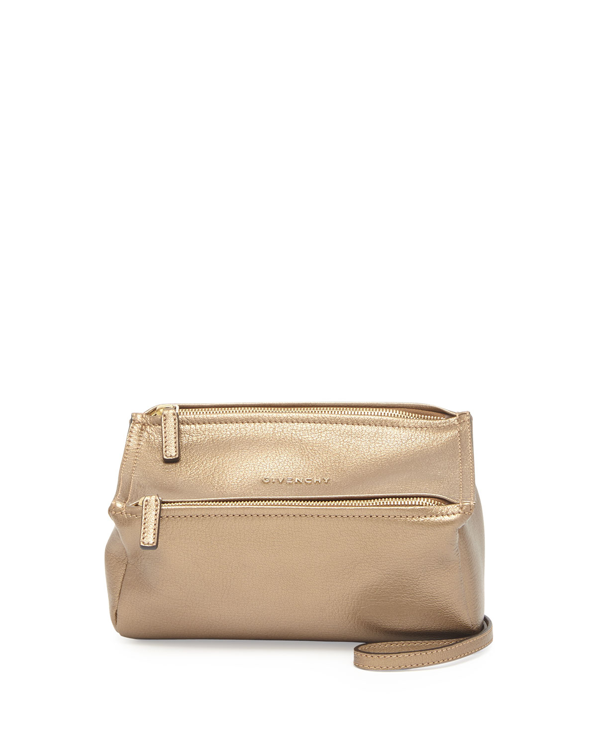 bff8853481 Lyst - Givenchy Pandora Mini Leather Crossbody Bag in Natural