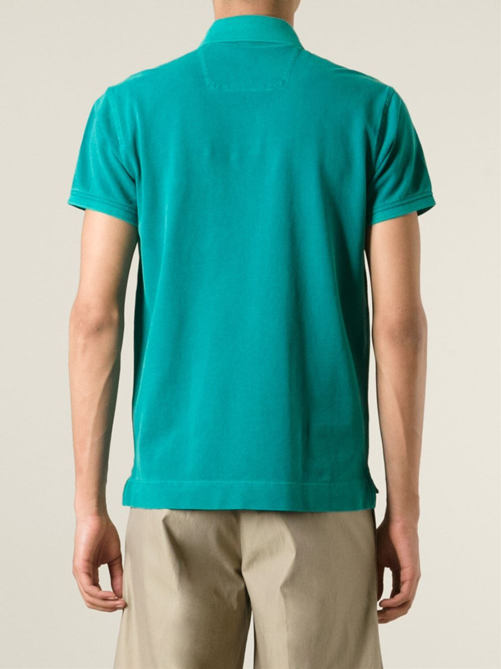 Z zegna pocket polo shirt in green for men lyst for Zegna polo shirts sale