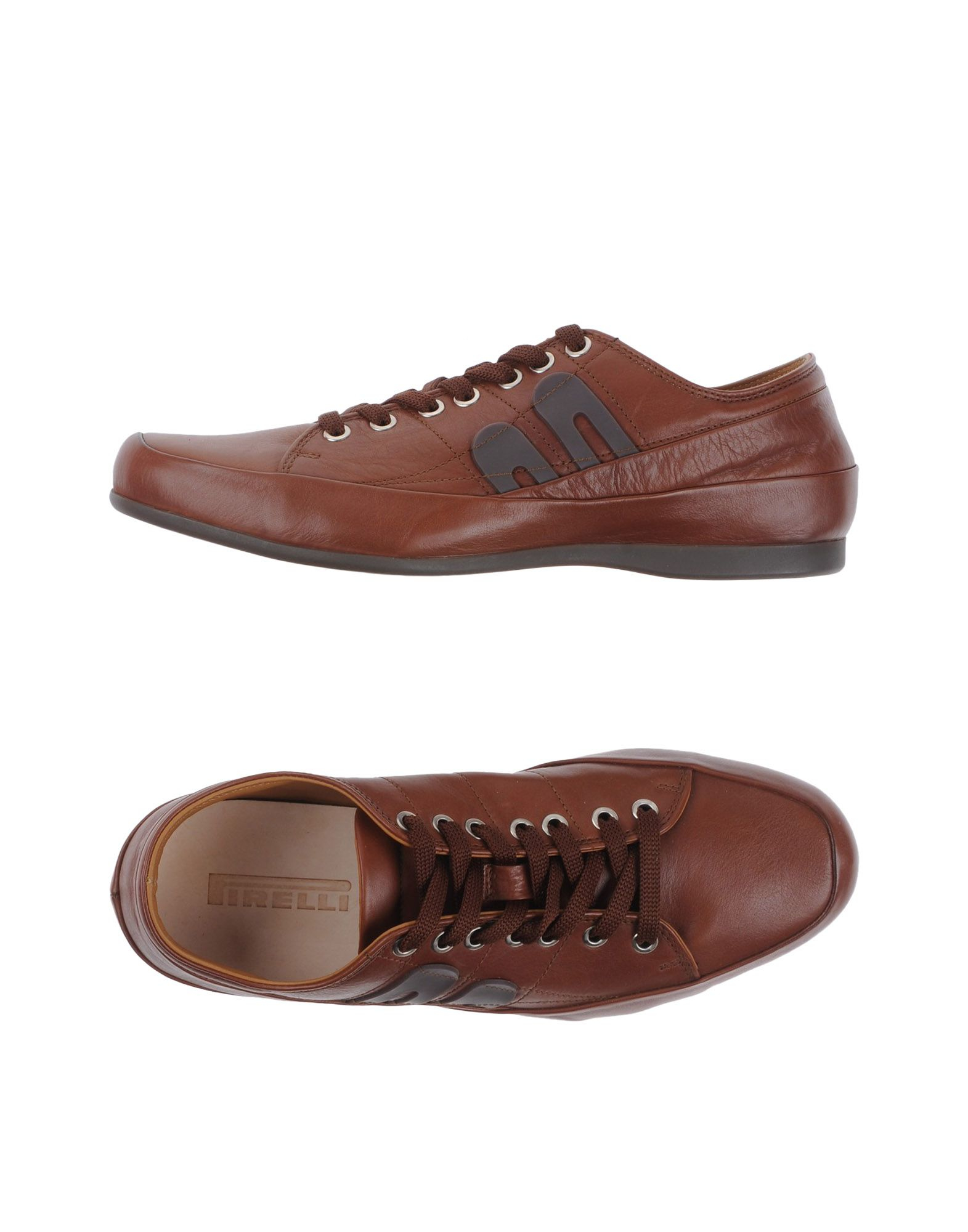 pirelli pzero lace up shoes in brown for save 43 lyst