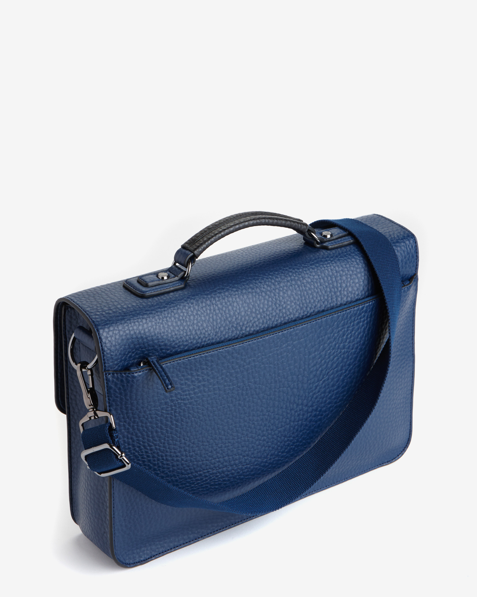 Ted baker Pebble Grain Messenger Bag in Blue for Men | Lyst