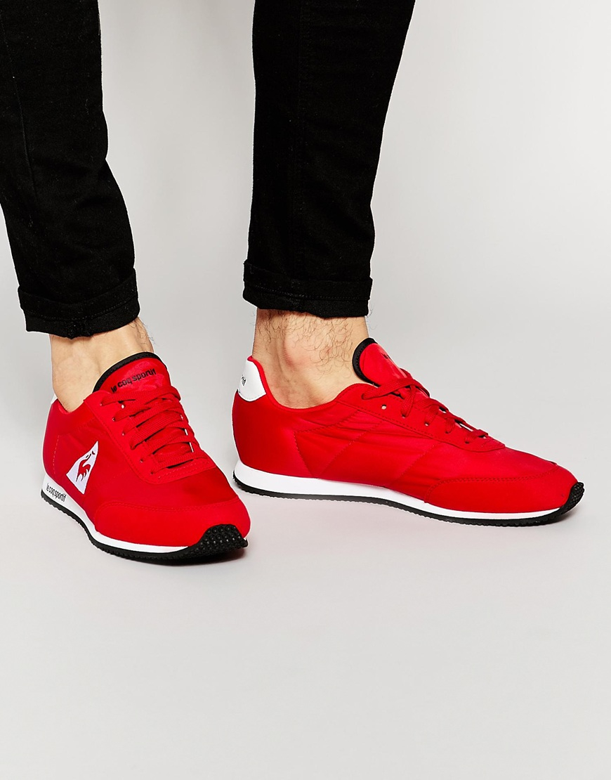 lyst le coq sportif racerone trainers in red for men. Black Bedroom Furniture Sets. Home Design Ideas