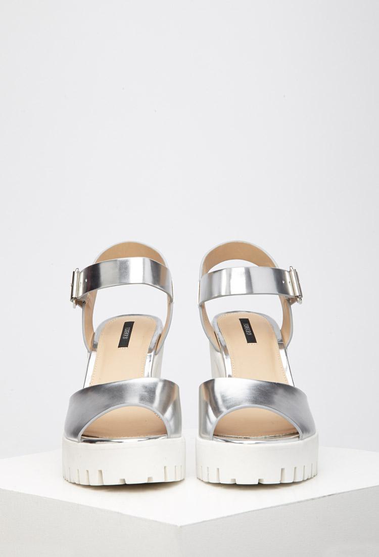 Forever Sandals 21 Sole Metallic Lug Platform mNO8n0wv