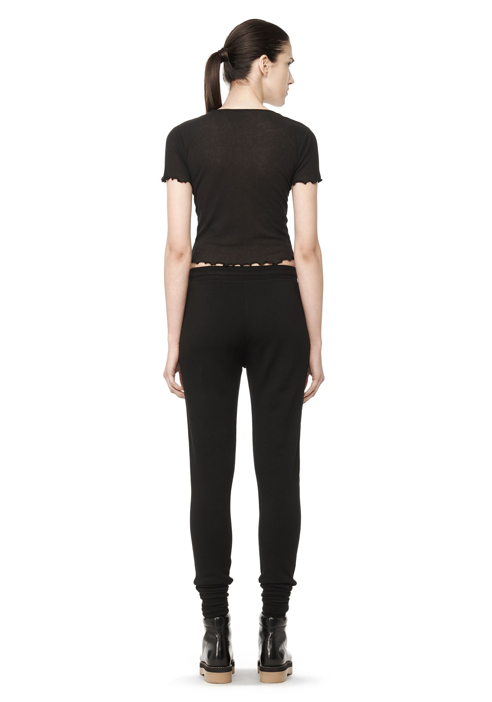 T by alexander wang t shirt in black lyst for Alexander wang t shirt women