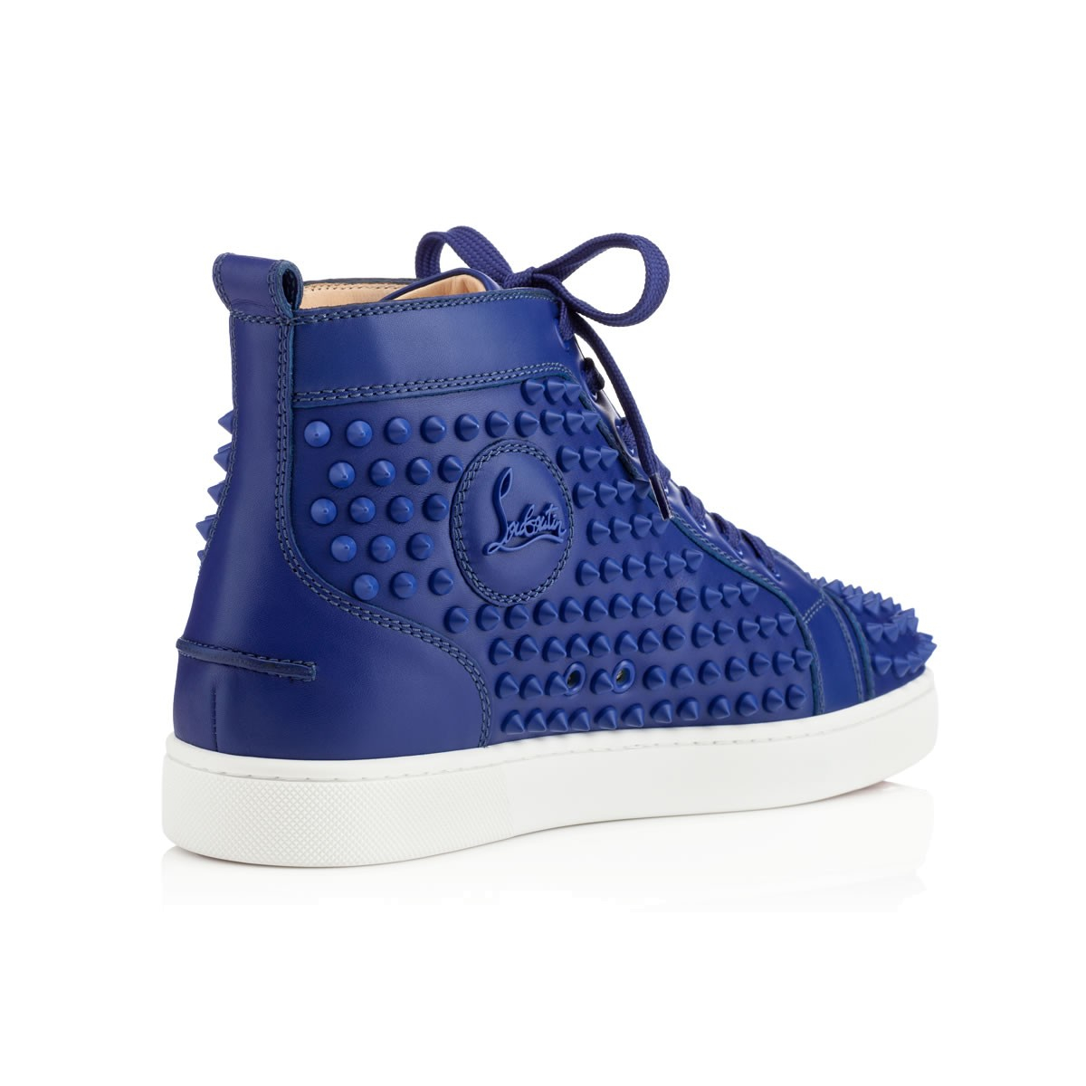 Lyst Christian Louboutin Louis Spikes Mens Flat In Blue