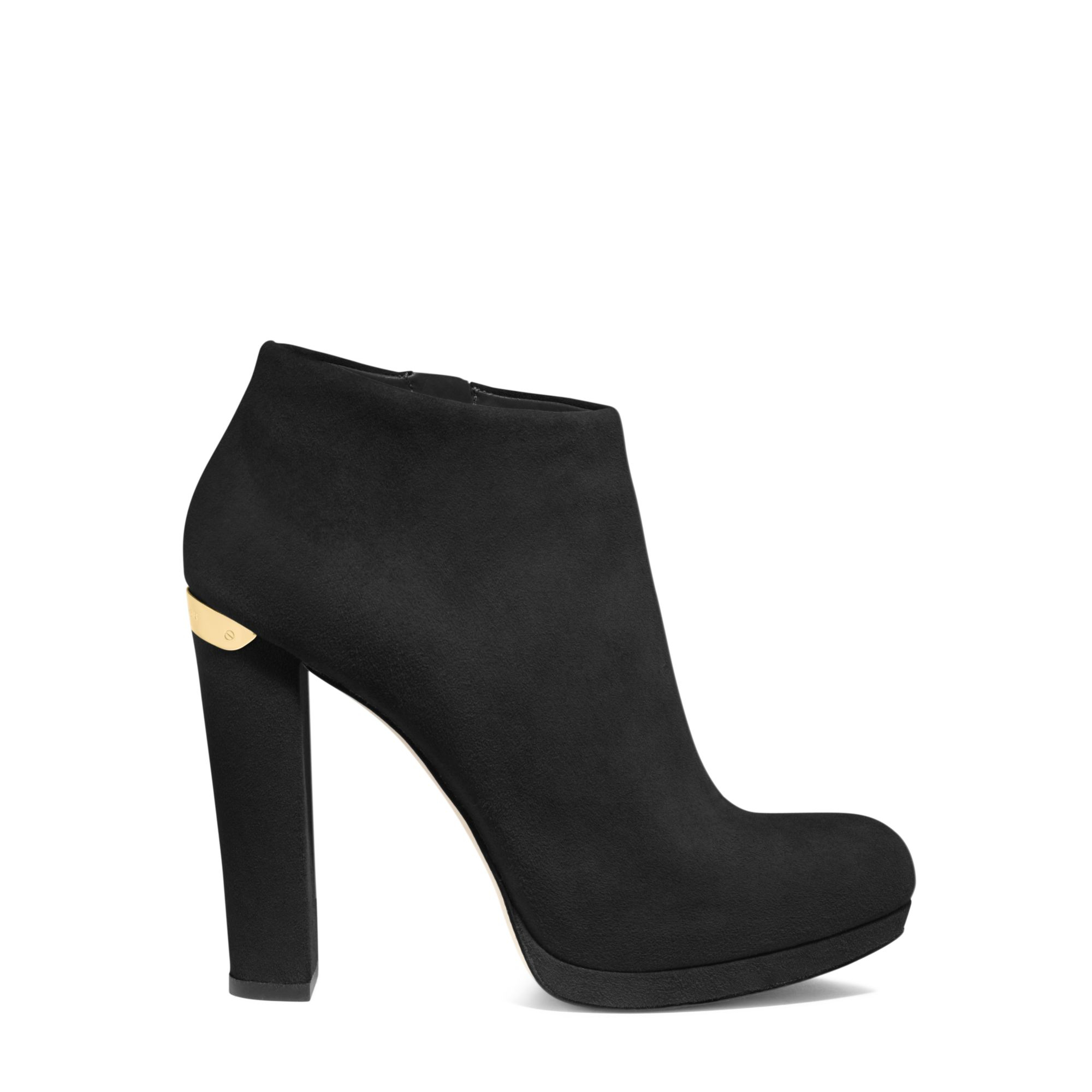 fe56020c7113d Michael Kors Haven Suede Ankle Boot in Black - Lyst