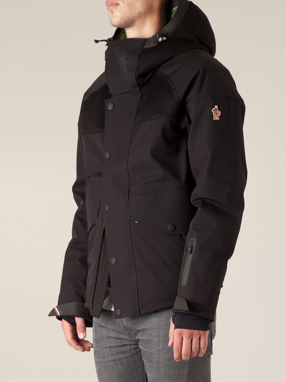Moncler grenoble Contrasting Panels Hooded Jacket in Black ...