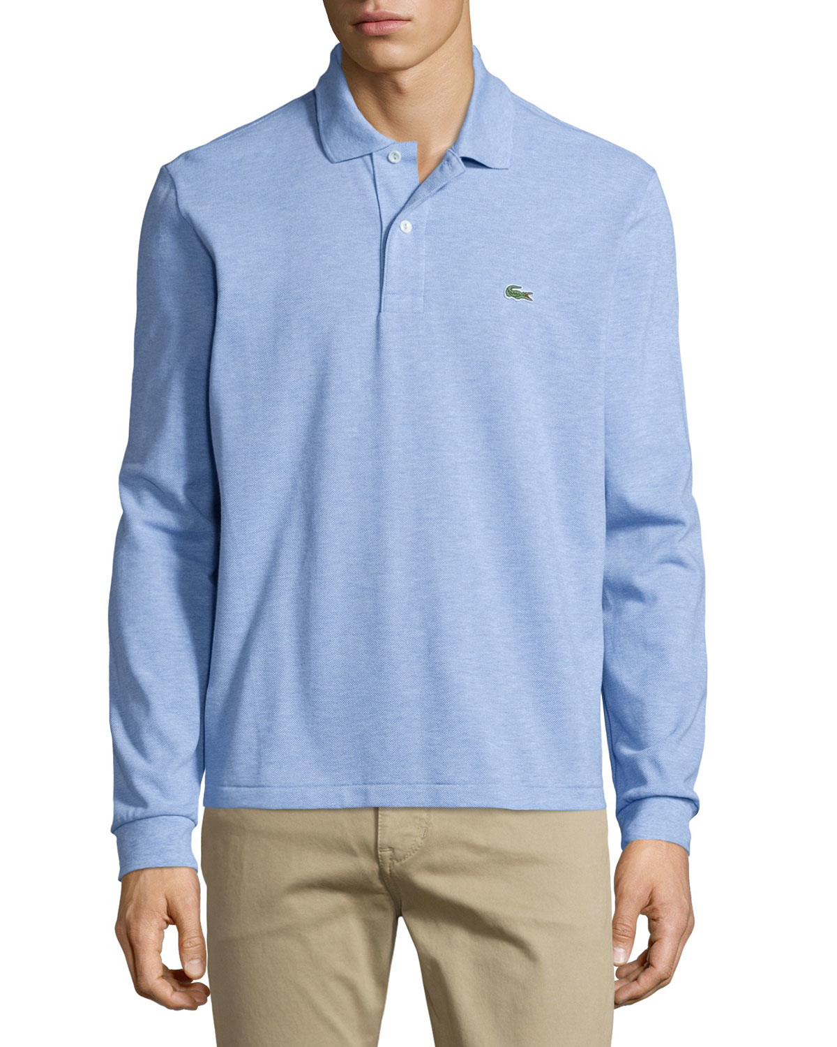 d6a649af Lacoste Long-sleeve Classic Pique Polo in Blue for Men - Lyst