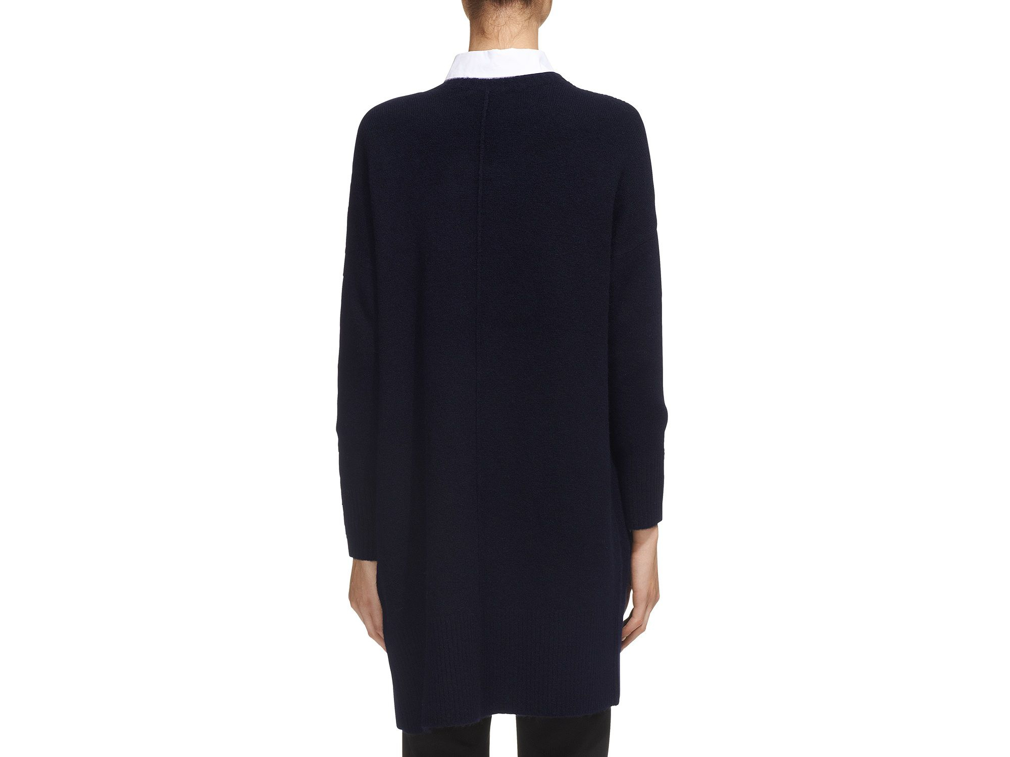Whistles Longline Cardigan in Blue | Lyst