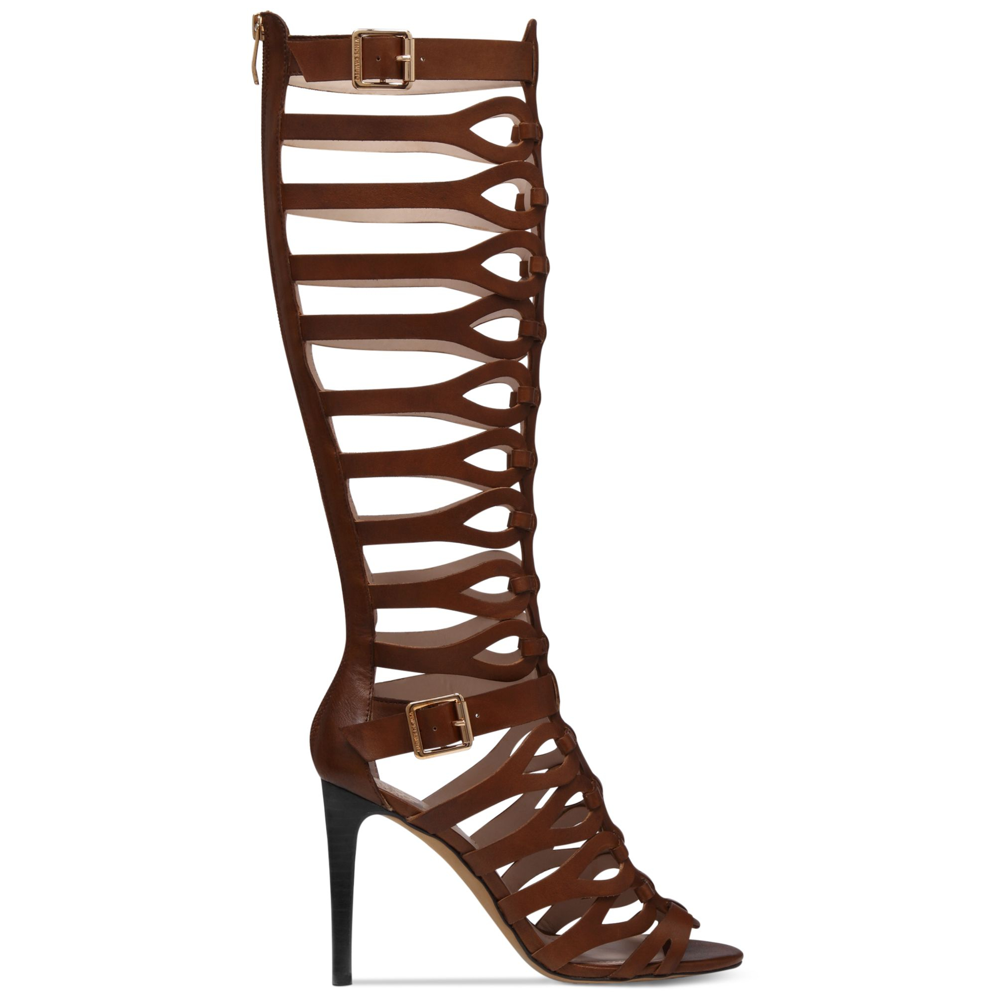 Vince Camuto Omera Tall Gladiator Heel Sandals In Brown Lyst