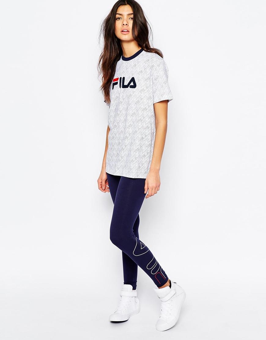 fila oversized boyfriend tshirt with front logo  all