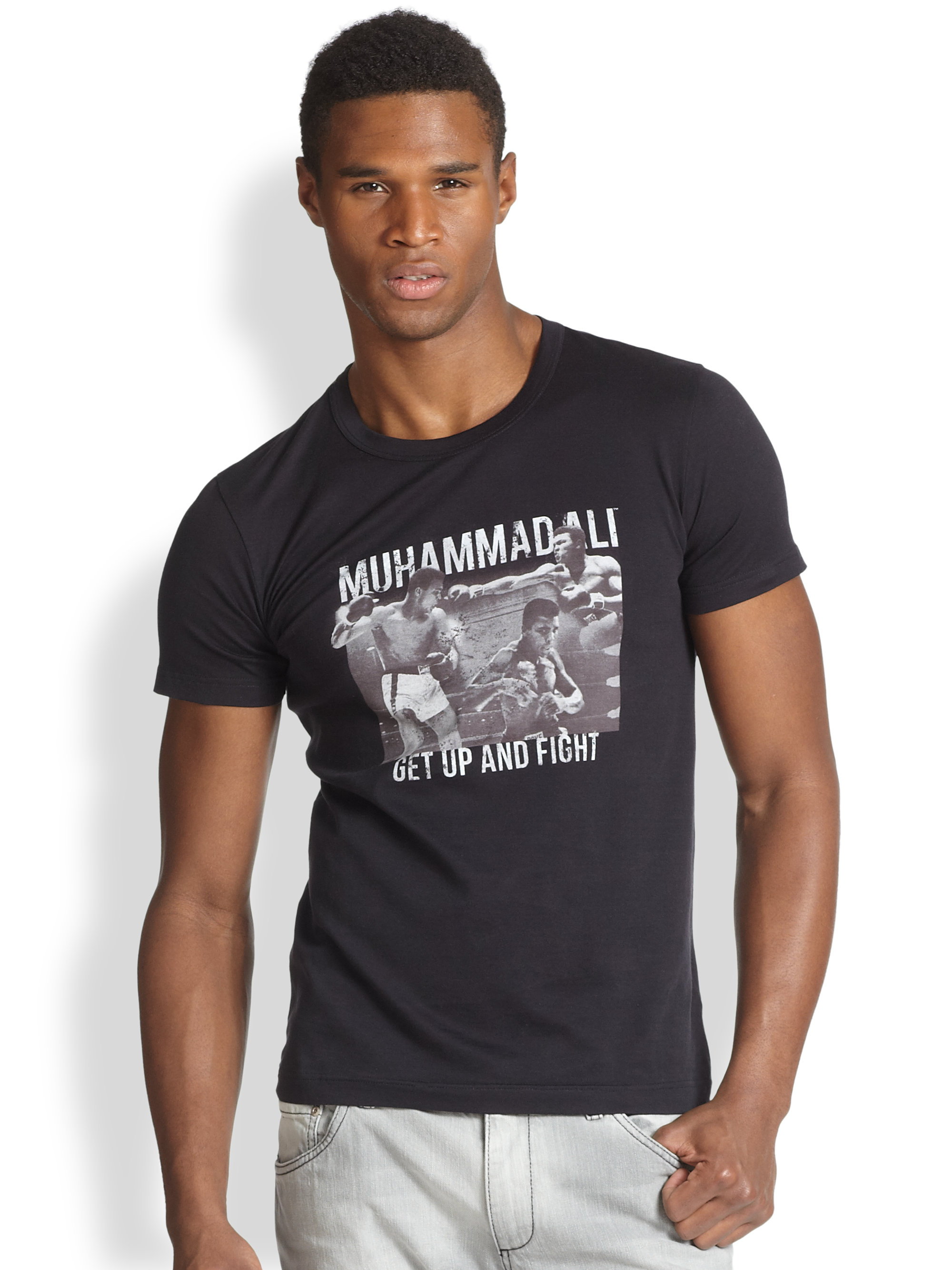 dolce gabbana muhammad ali tee in blue for men lyst. Black Bedroom Furniture Sets. Home Design Ideas