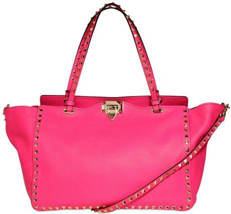 Medium Neon Bag Leather Bag in Pink Neon
