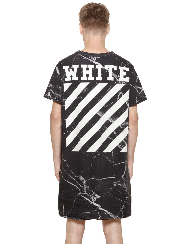Lyst Off White C O Virgil Abloh Marble Print Cotton