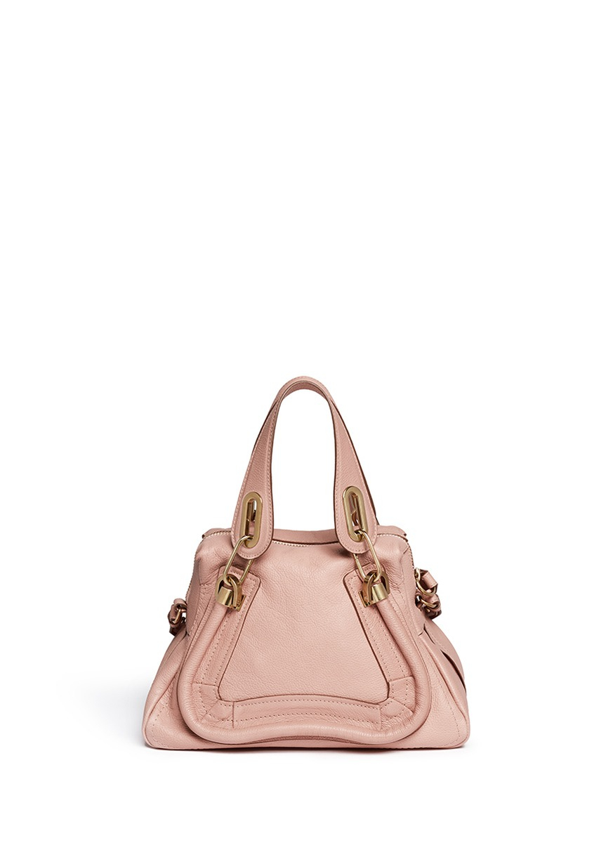 Chlo 233 Paraty Small Leather Bag In Pink Lyst