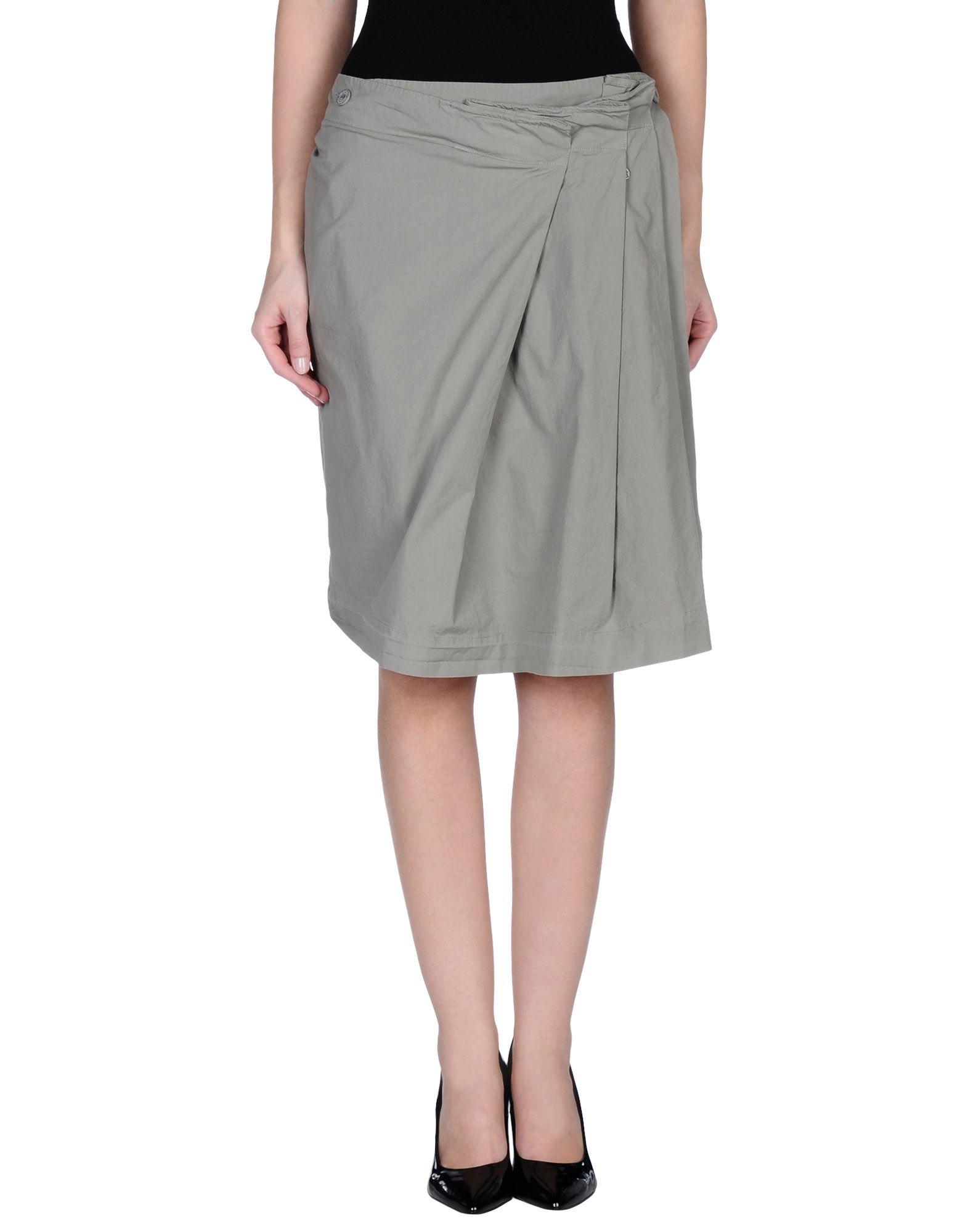manila grace knee length skirt in gray grey save 54