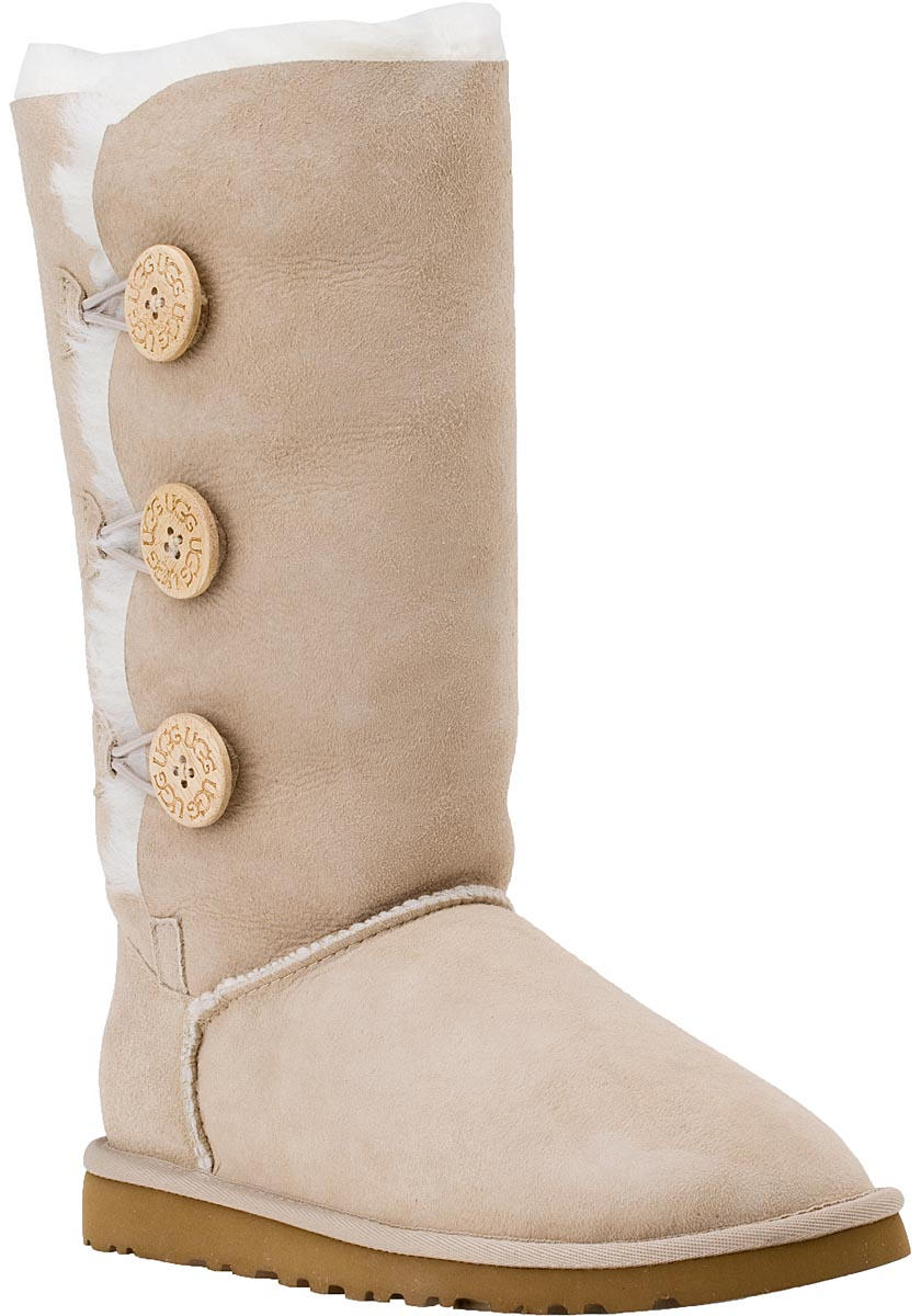 404b8ed893e UGG Natural Bailey Button Triplet Boot Sand Suede