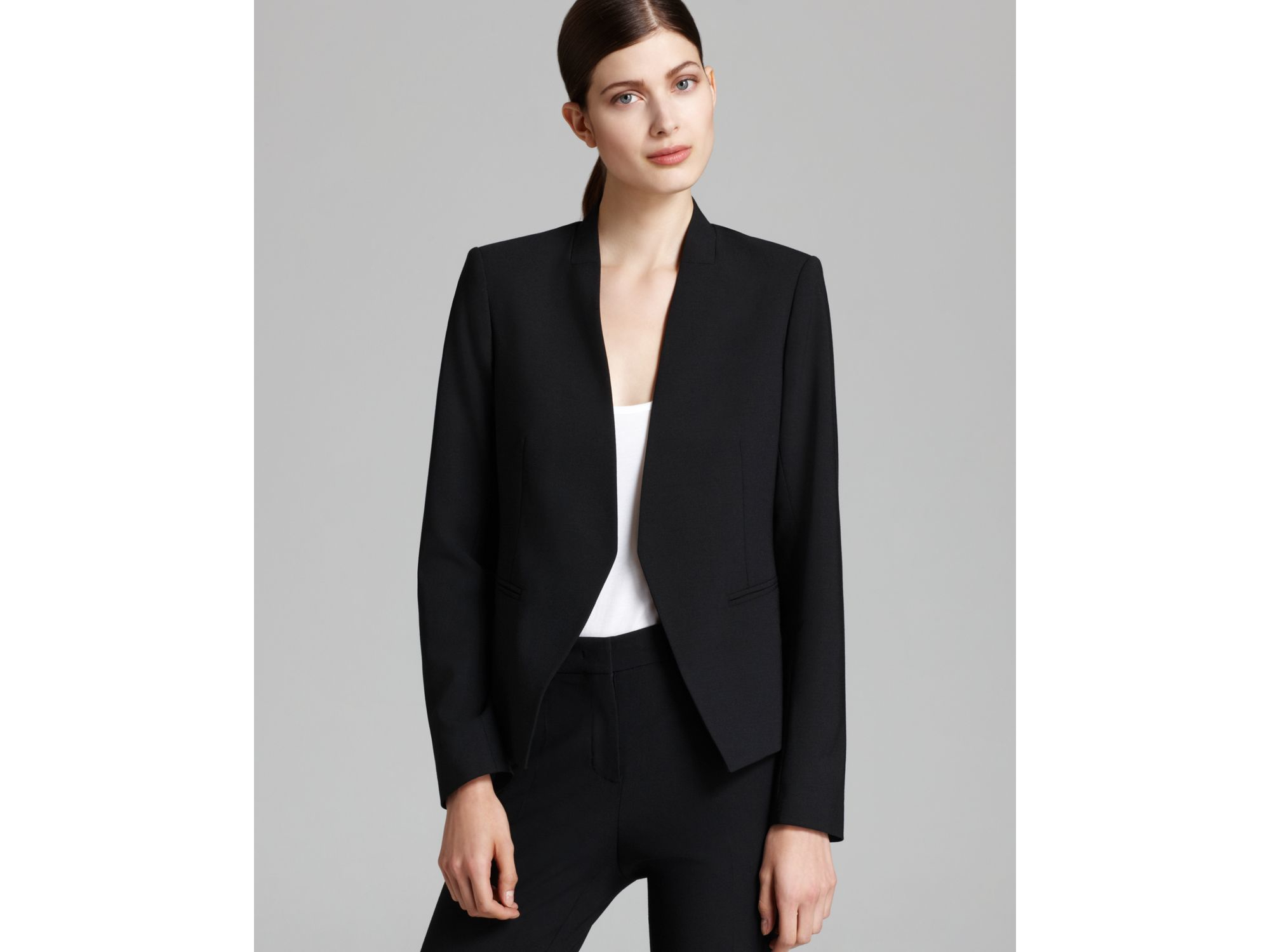 98a5f08d10a Theory Lanai Edition Open Blazer in Black   Lyst - photo#7