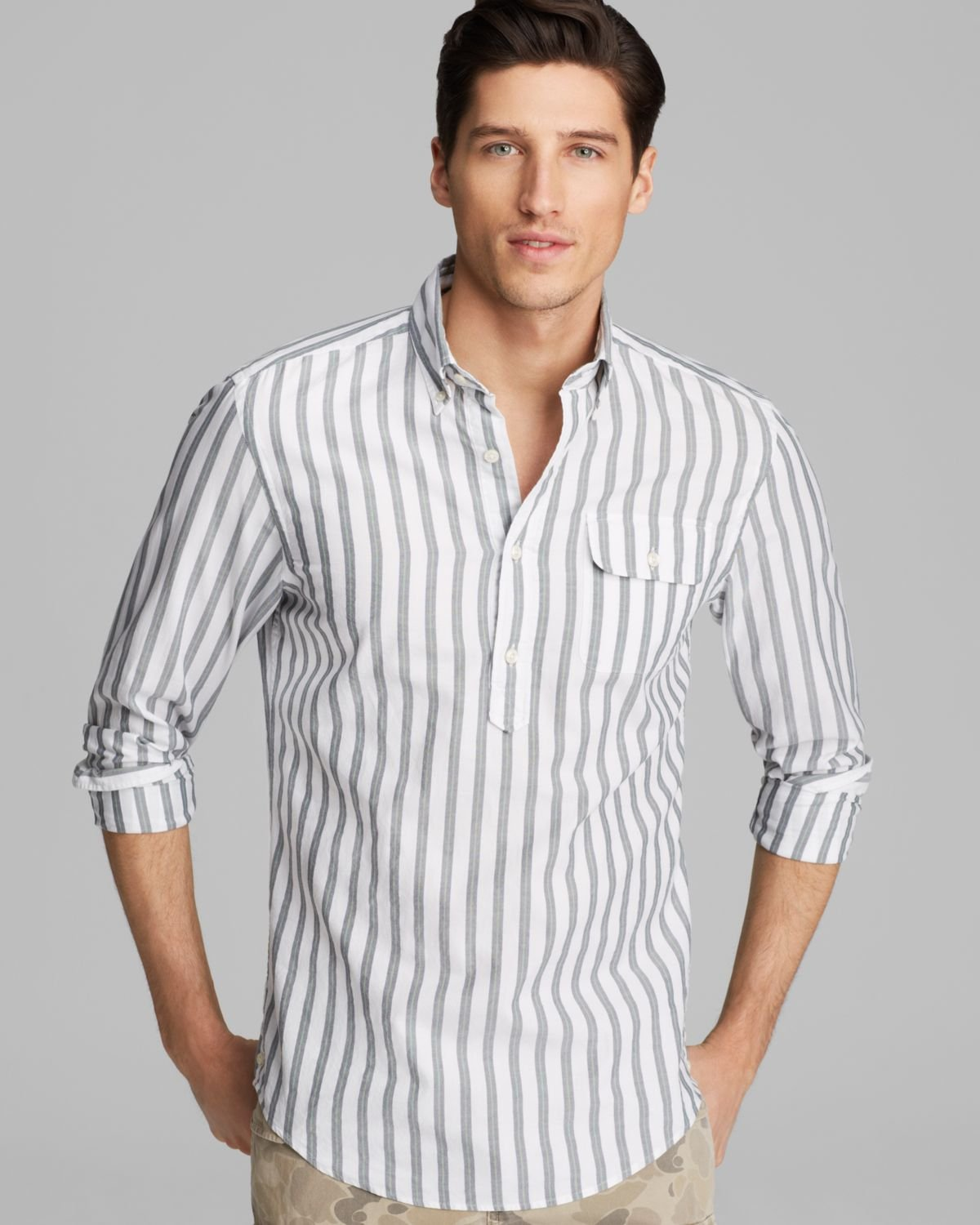 Gant Oxford Bar Stripe Pullover Button Down Shirt - Slim Fit in ...