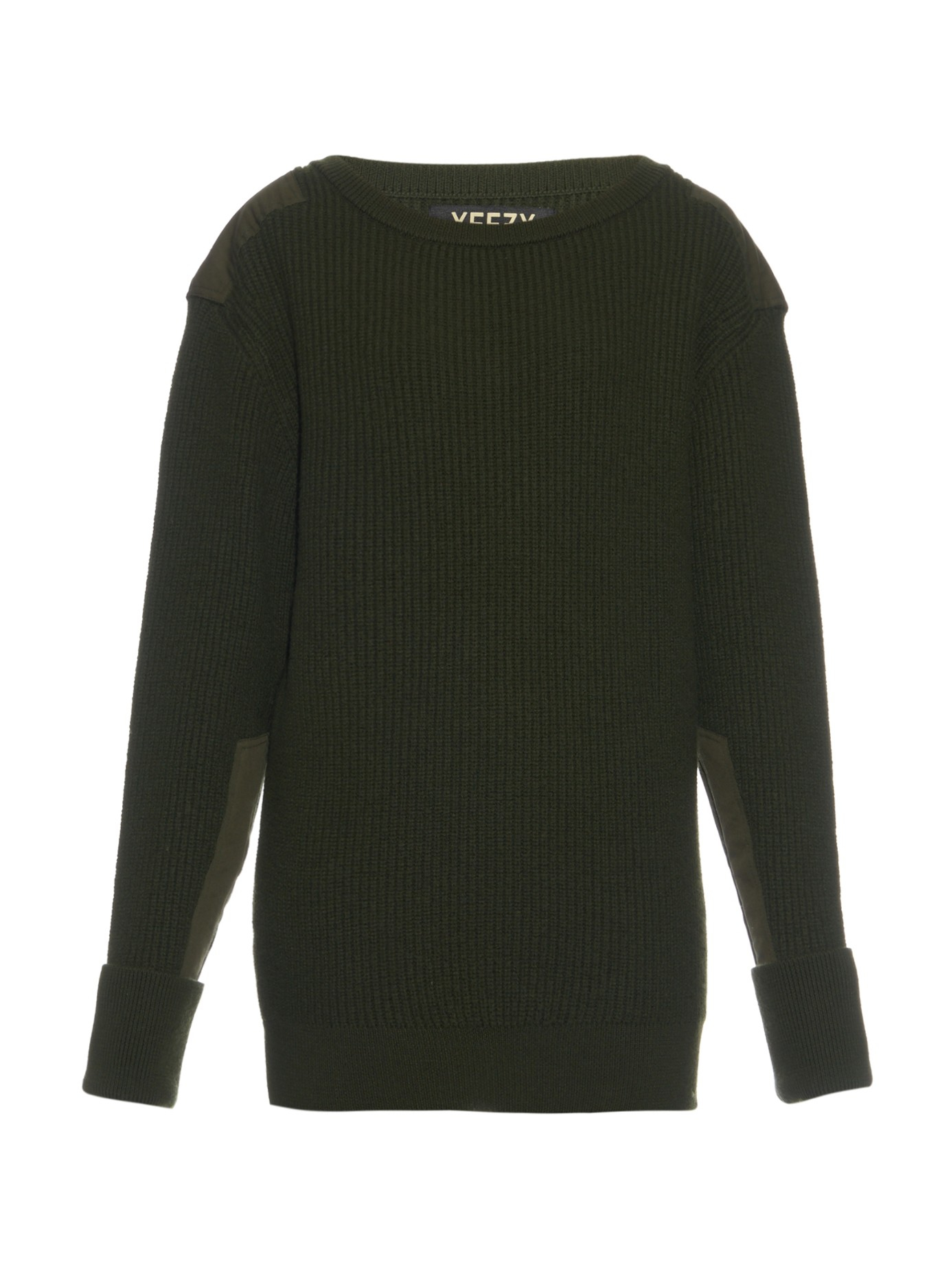 Yeezy Military Ribbed-knit Wool Sweater in Natural | Lyst