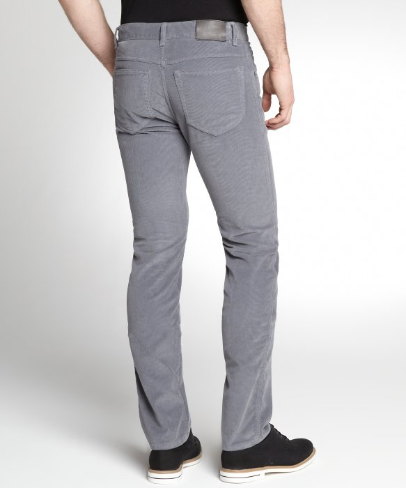 Zegna sport Grey Cotton Corduroy Flat Front Pants in Gray for Men ...