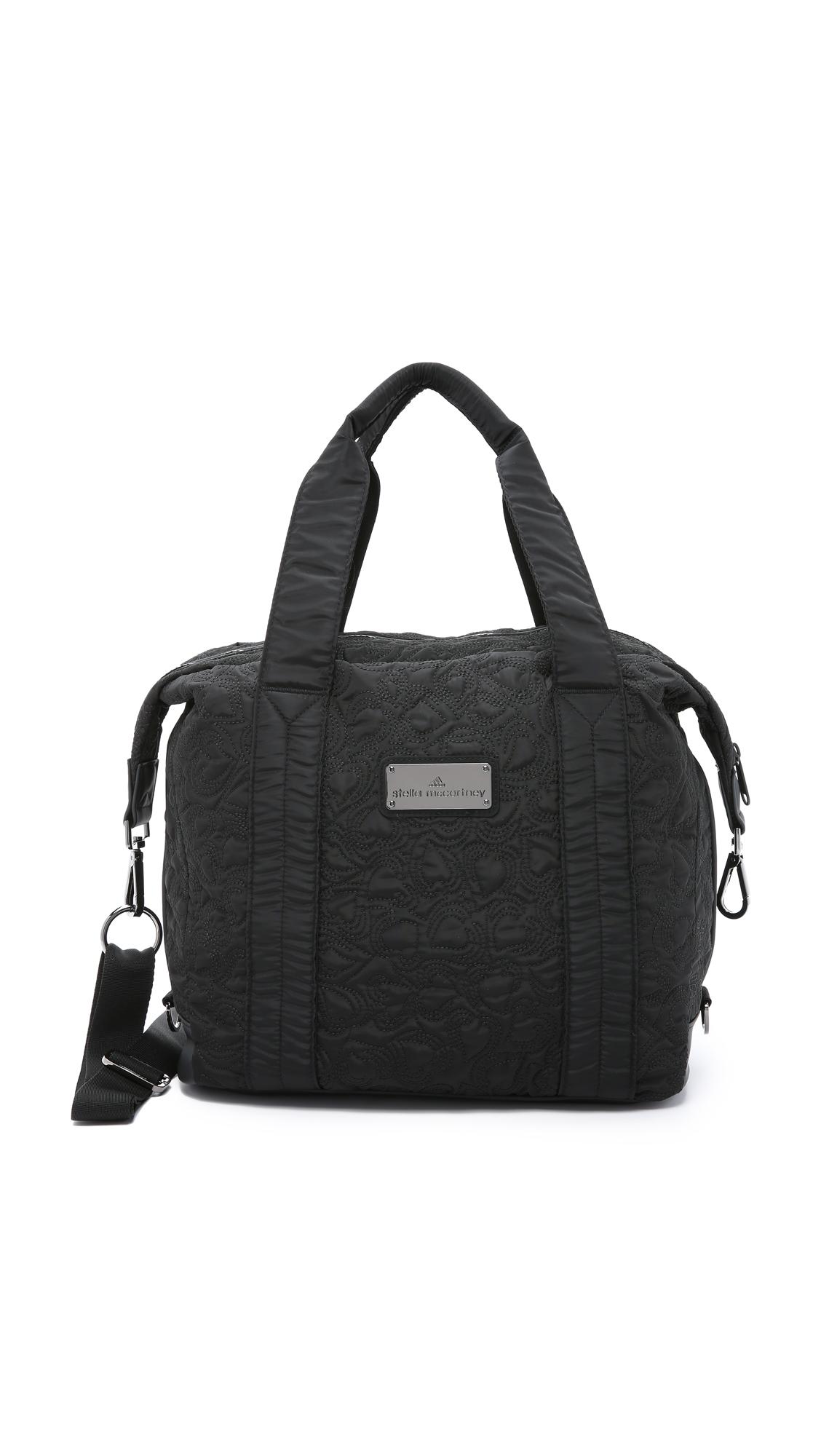 6f90752258b5 Lyst - adidas By Stella McCartney Small Gym Bag - Black in Black