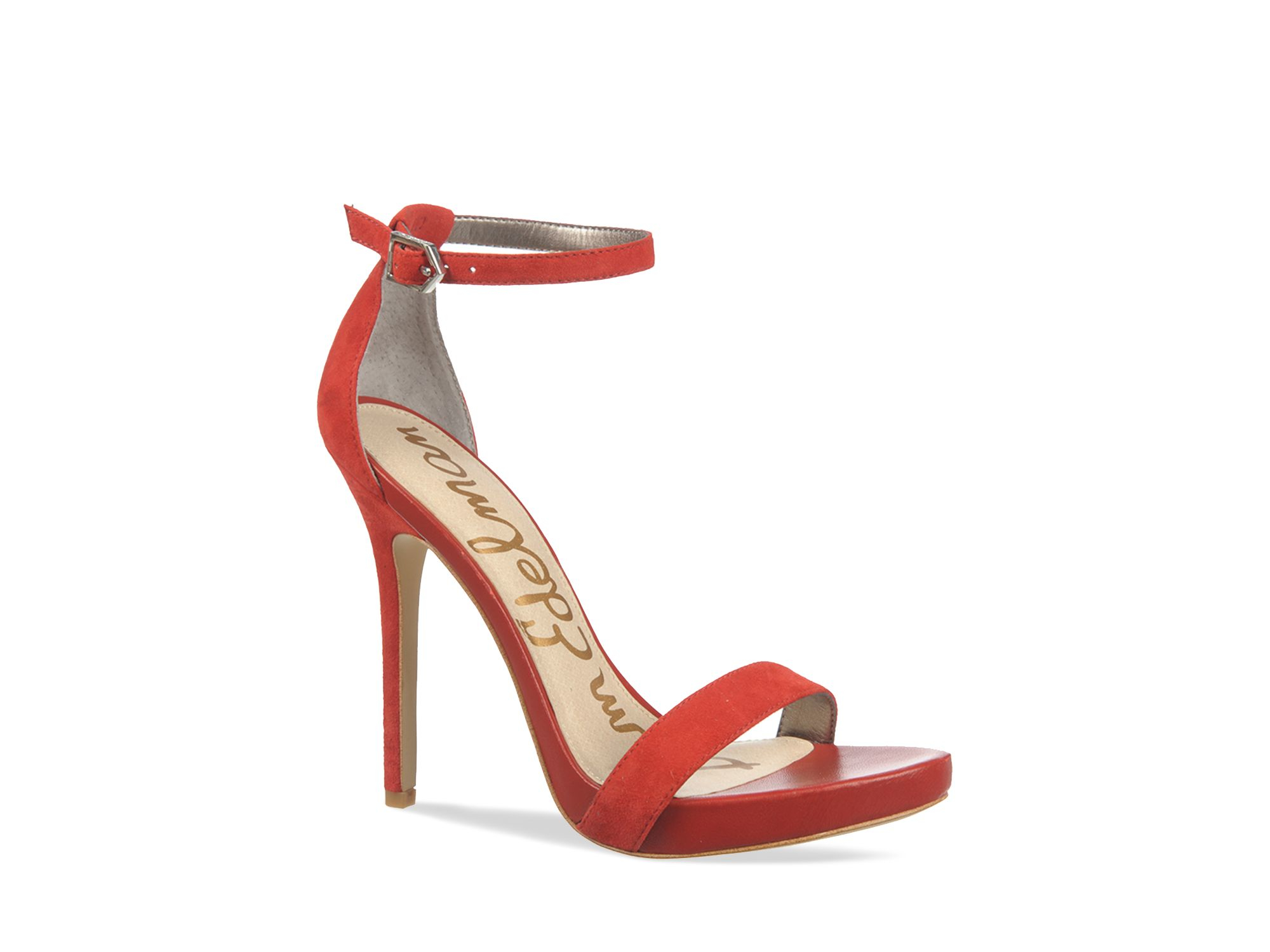 5c82e07a5028d3 Lyst - Sam Edelman Ankle Strap Sandals - Eleanor High Heel in Red