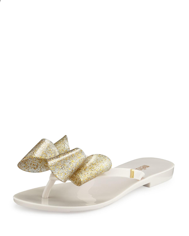 e2f4f6c4ac0805 Melissa Harmonic Bow Jelly Thong Sandal in White - Lyst