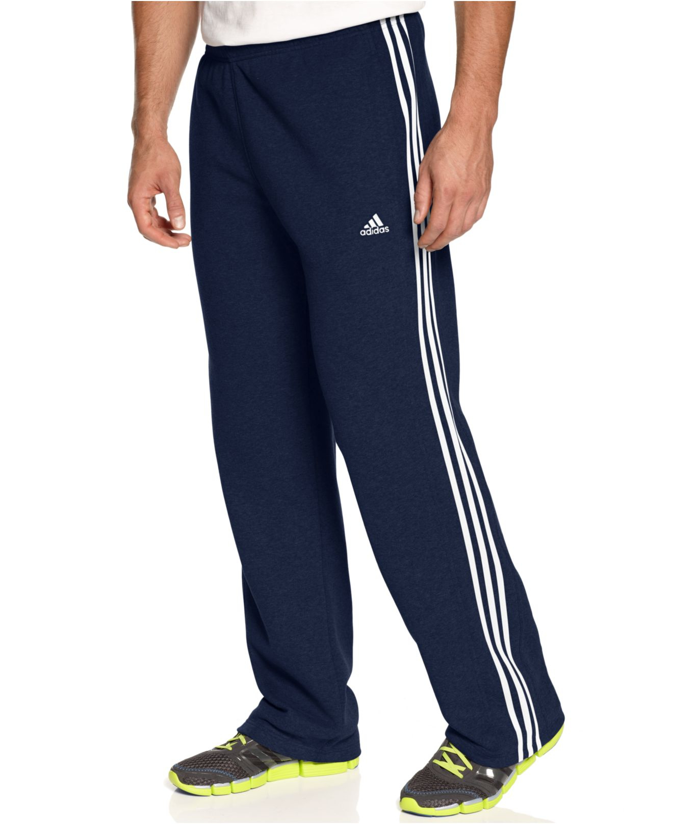Lyst Adidas 3 Stripe Track Pants In Blue For Men