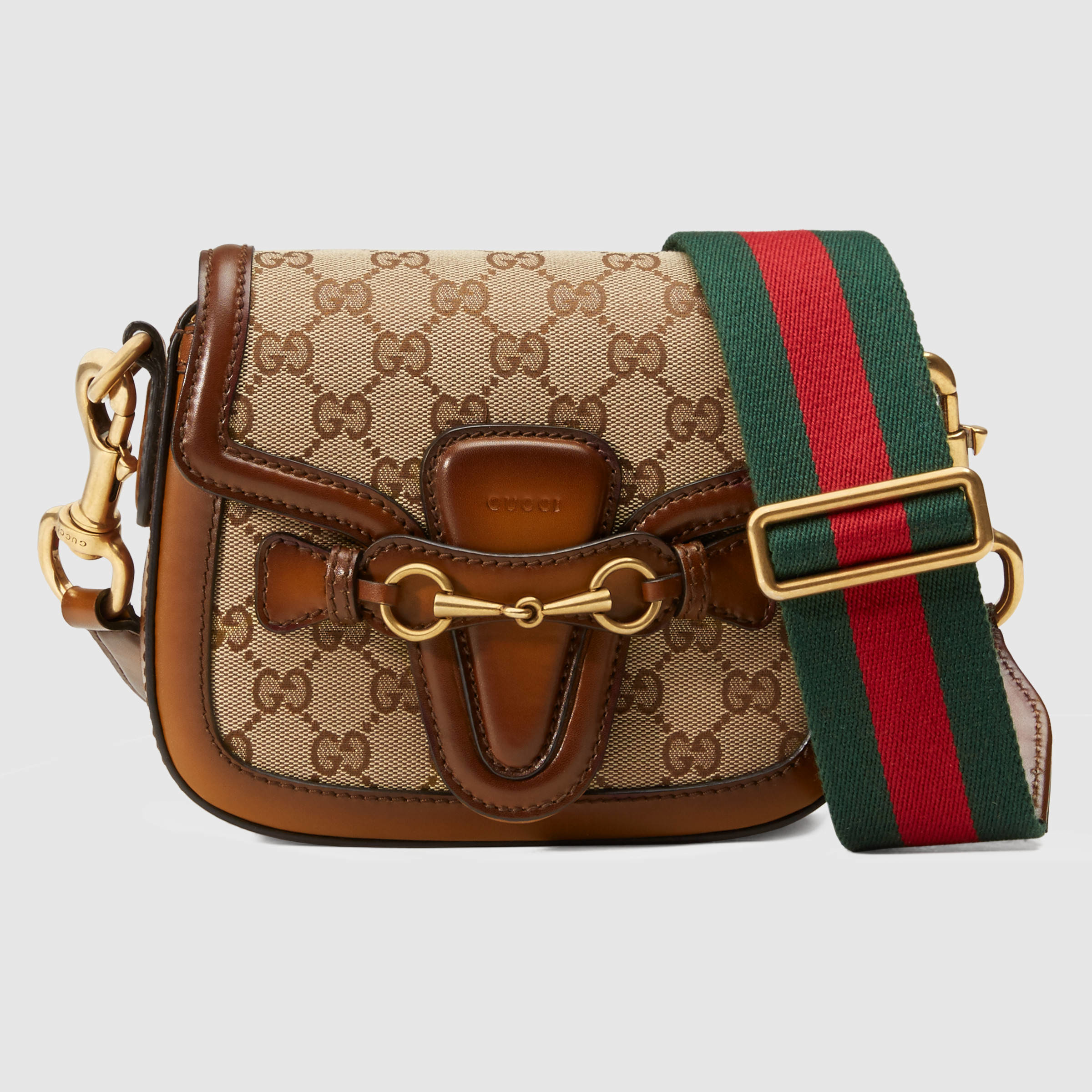 476708d610c16 Lyst - Gucci Lady Web Original Gg Canvas Shoulder Bag in Brown