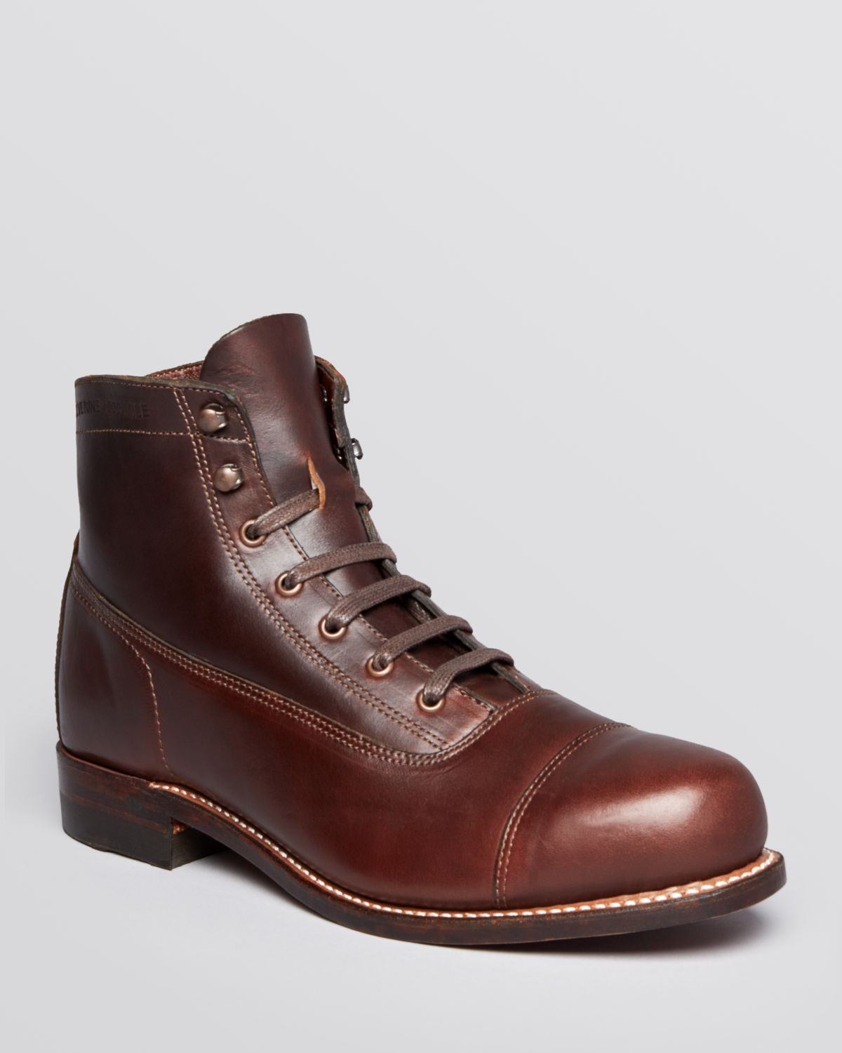Lyst - Wolverine Rockford Cap Toe Boots in Brown for Men 79282265fc2