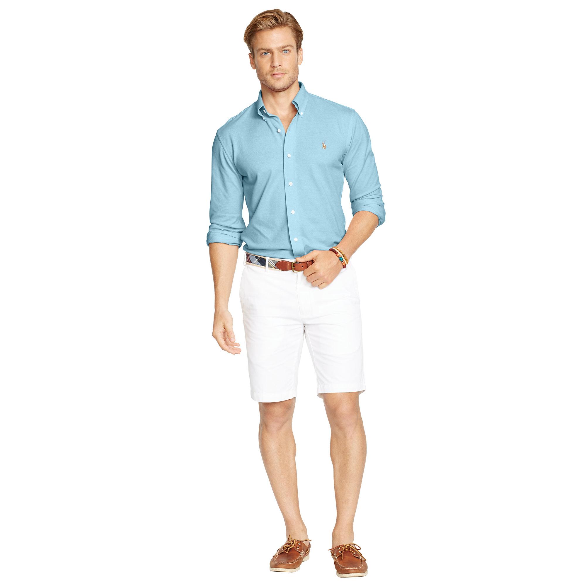 Polo Ralph Lauren Knit Oxford Shirt in Blue for Men - Lyst