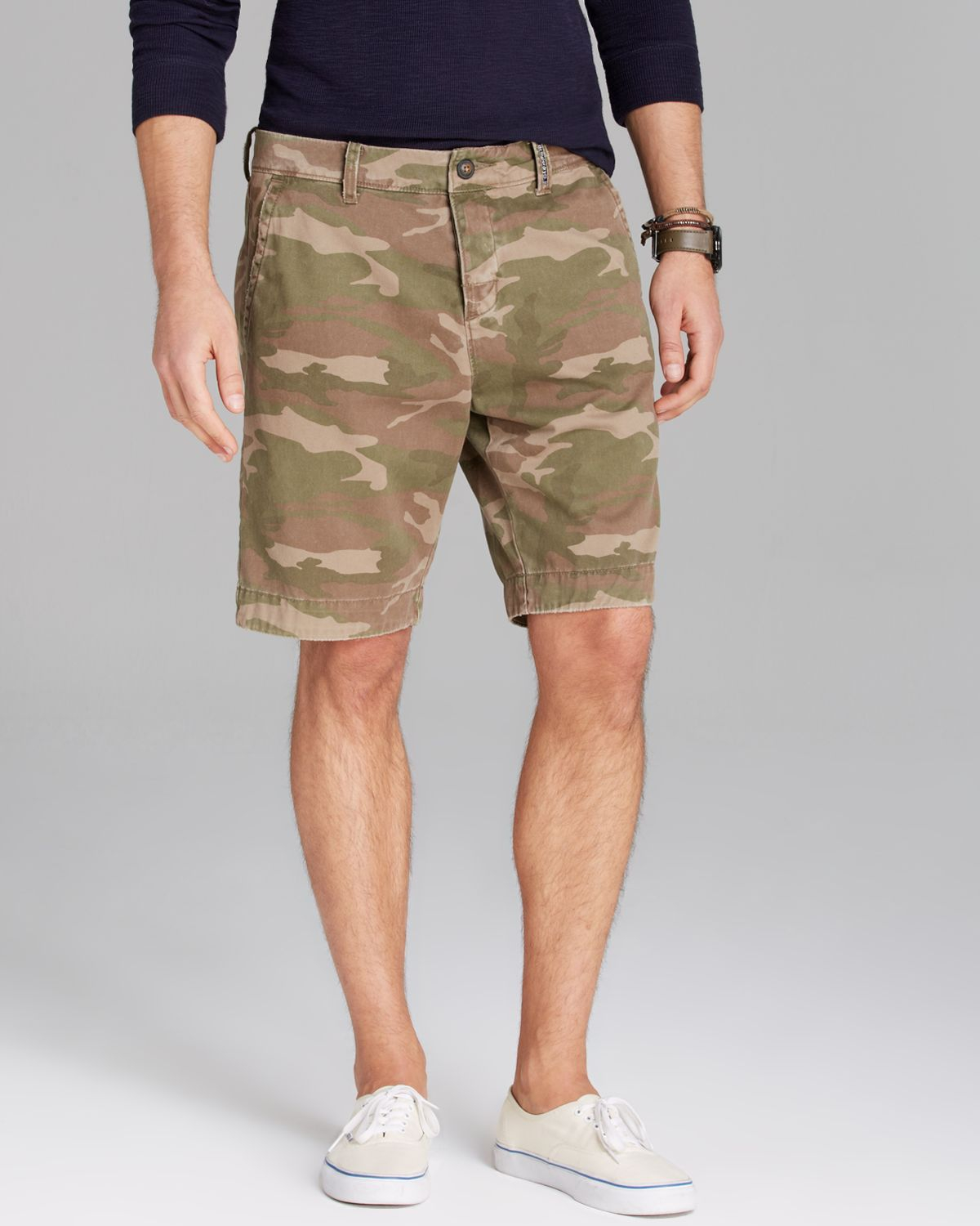 Superdry Commodity Camo Chino Shorts in Green for Men | Lyst