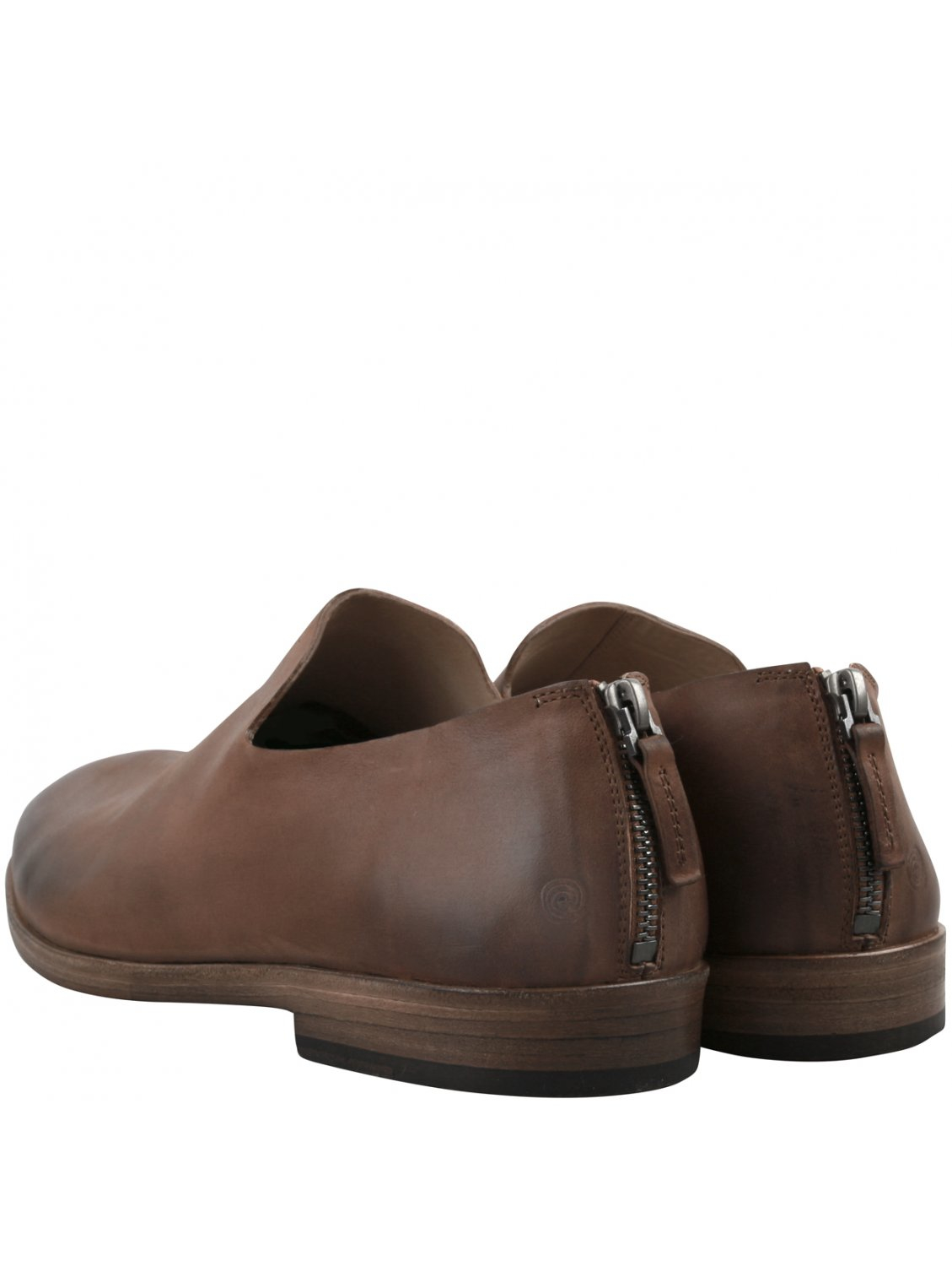 mars 232 ll brown leather slouch slip on shoes in brown for