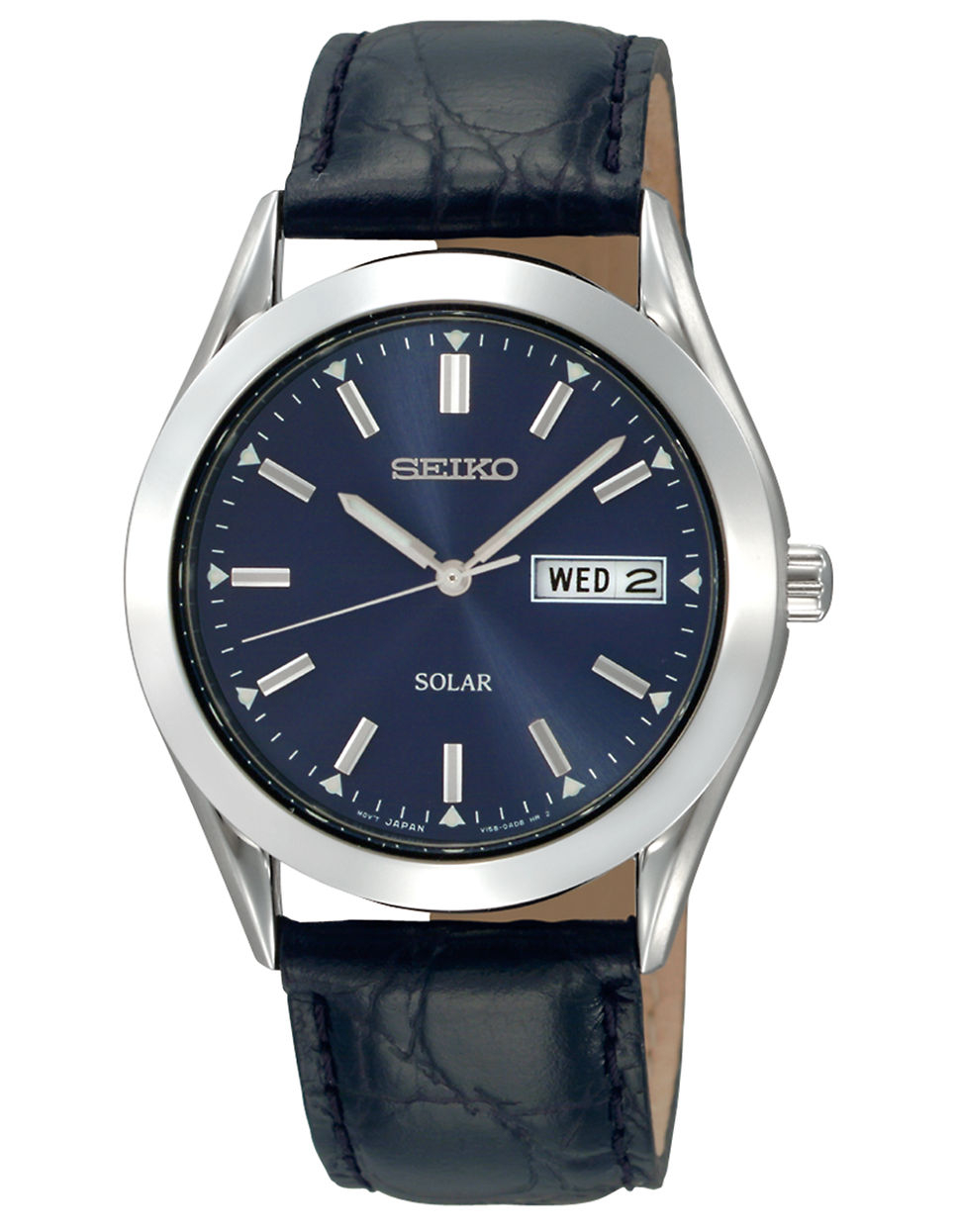 seiko mens solar blue in black for lyst
