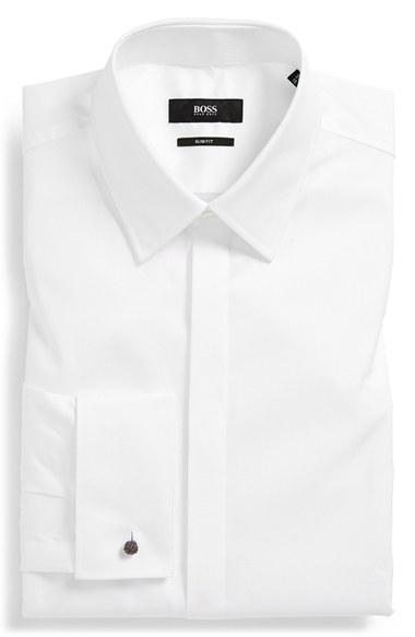 Lyst Boss 39 Ilias 39 Ww Slim Fit French Cuff Tuxedo Shirt