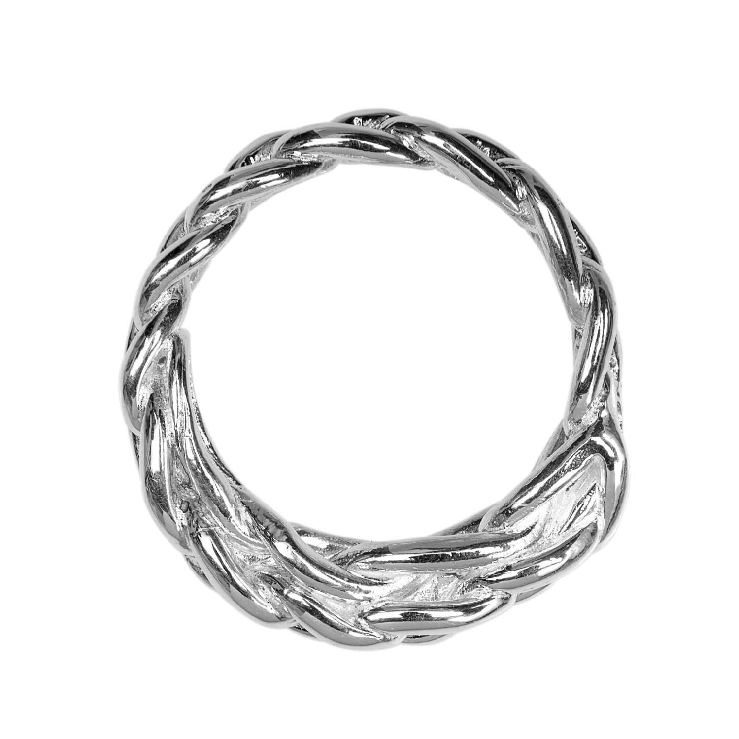 ali grace jewelry sterling silver braided ring in silver