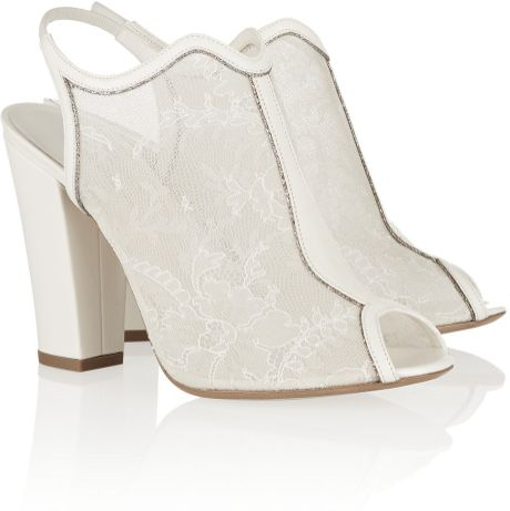 White Lace Sandals Lace Sandals in White