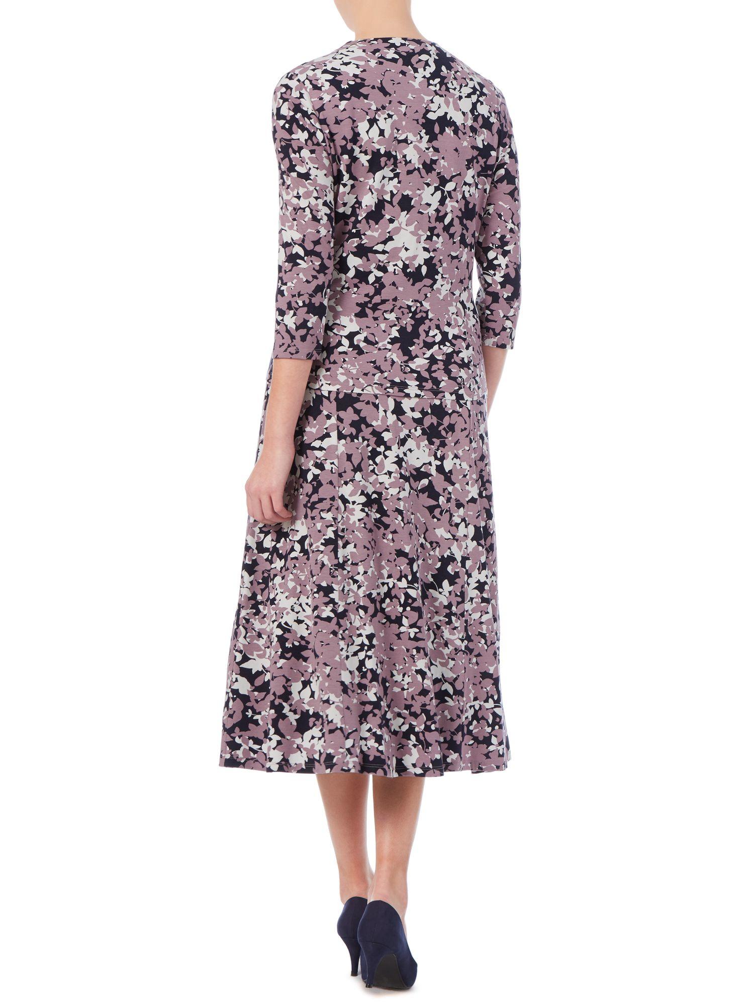 Eastex Shadow Blossom Wrap Top In Purple Lyst