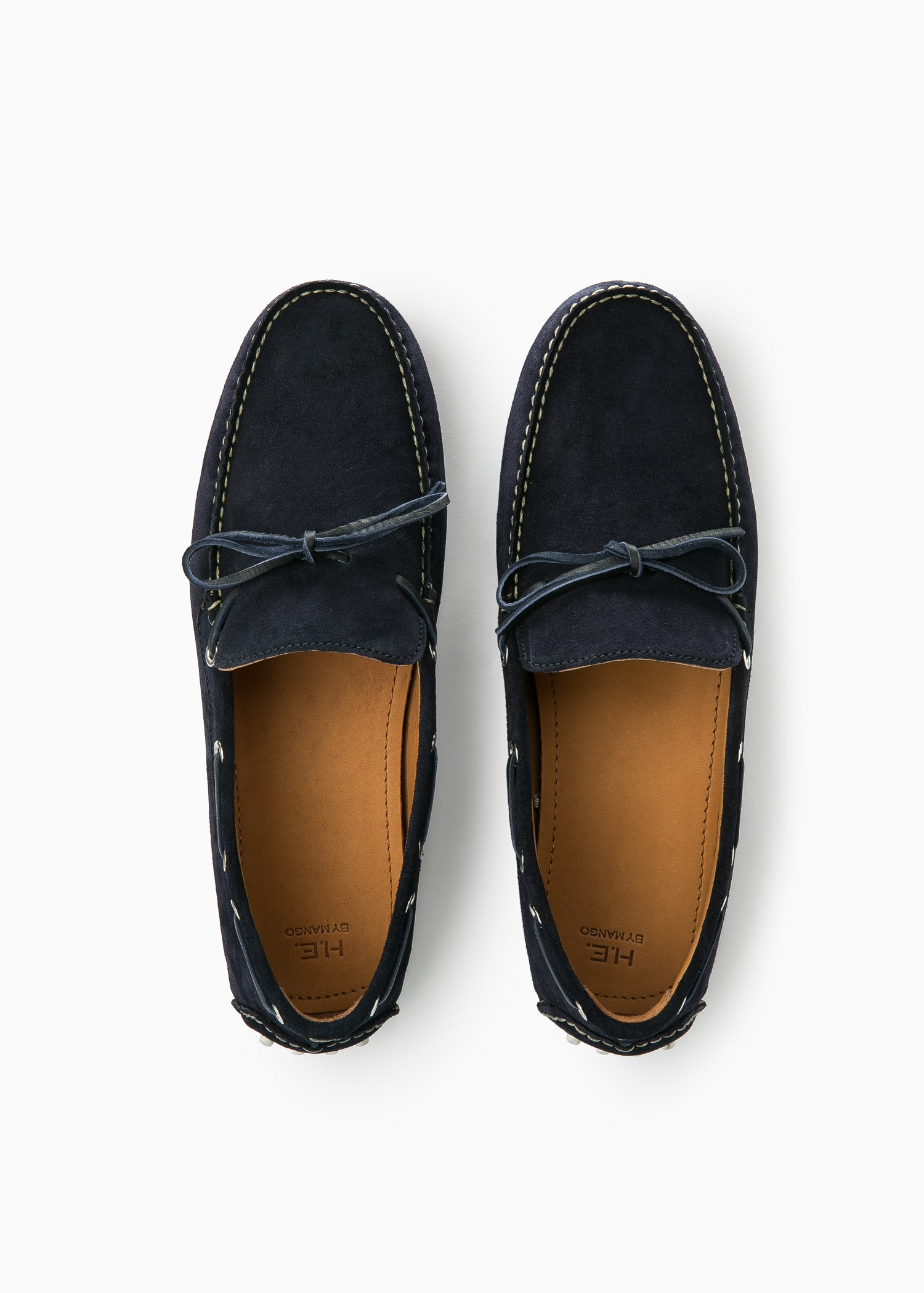 MANGO Suede loafers