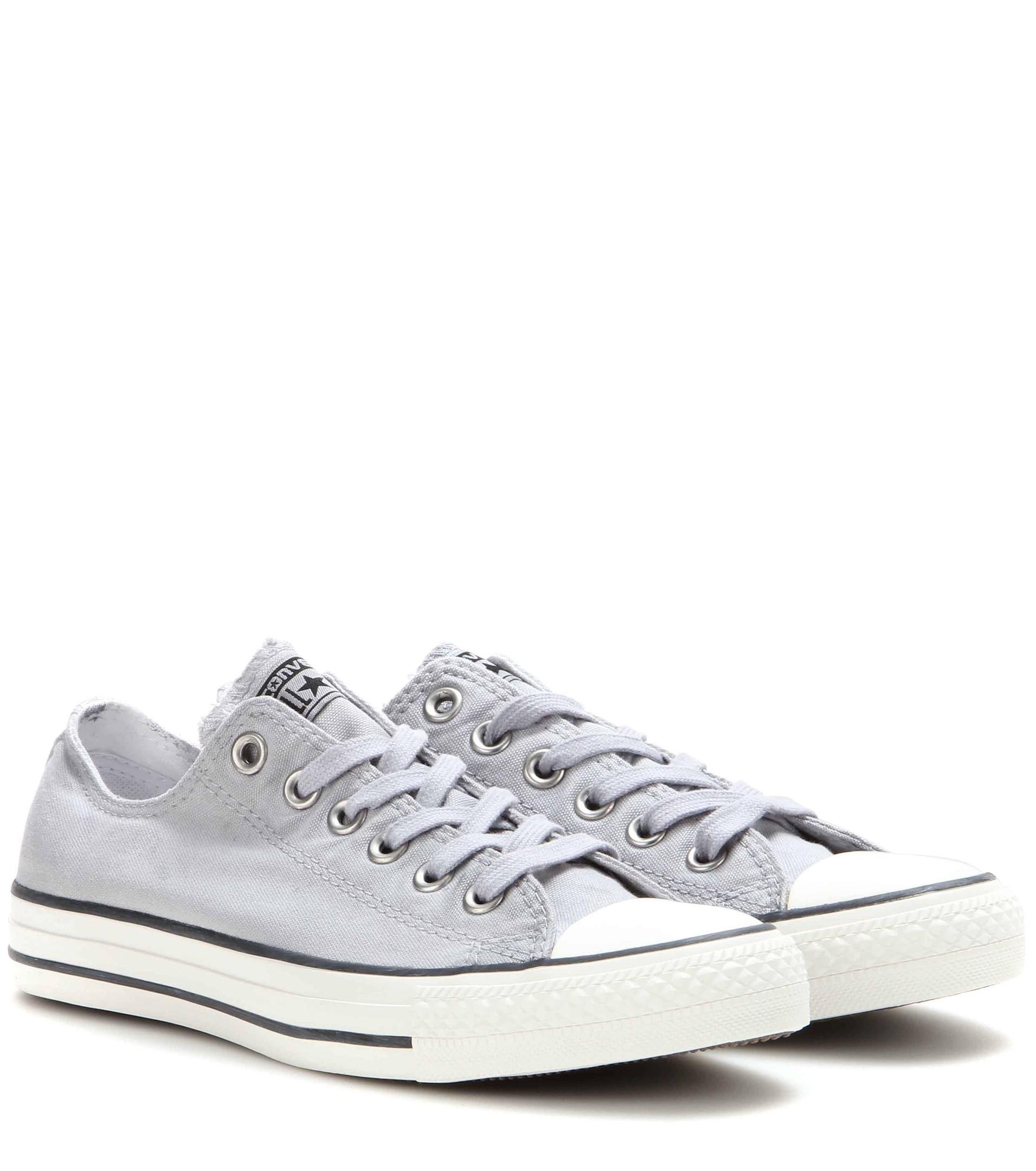 Fashional Lady - Converse All Star Low Chuck Taylors Grey-Blue Canvas Sale