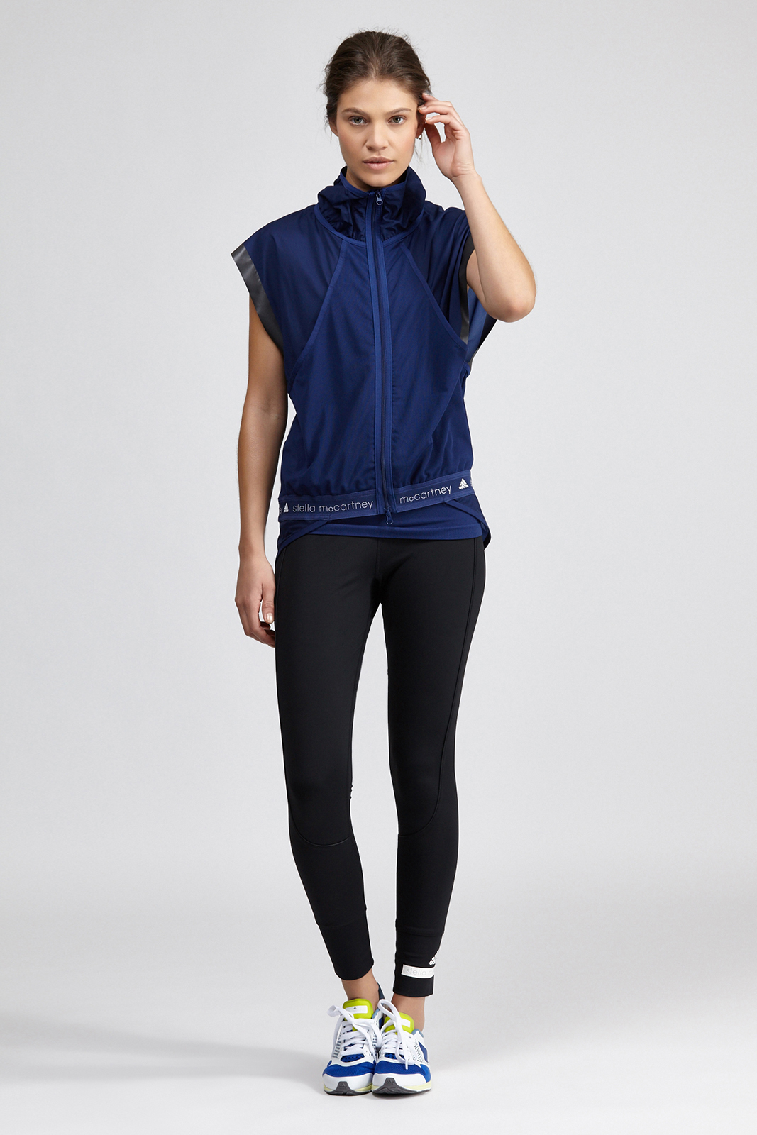 lyst adidas by stella mccartney adizero gilet in blue. Black Bedroom Furniture Sets. Home Design Ideas