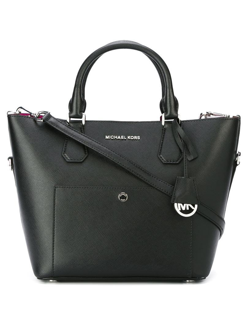 michael michael kors greenwich tote in black lyst. Black Bedroom Furniture Sets. Home Design Ideas