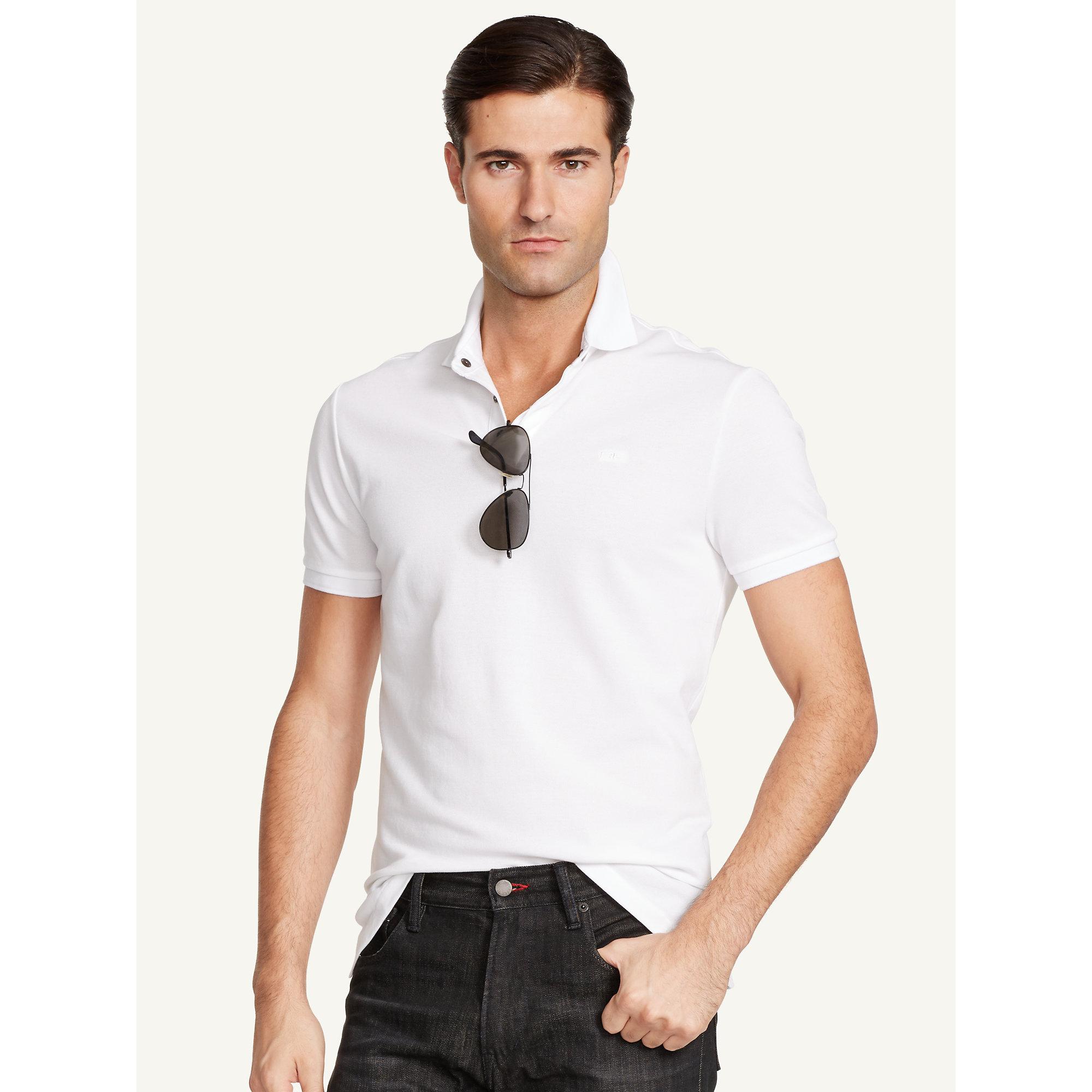 Lyst ralph lauren black label stretch cotton polo shirt for Ralph lauren black label polo shirt
