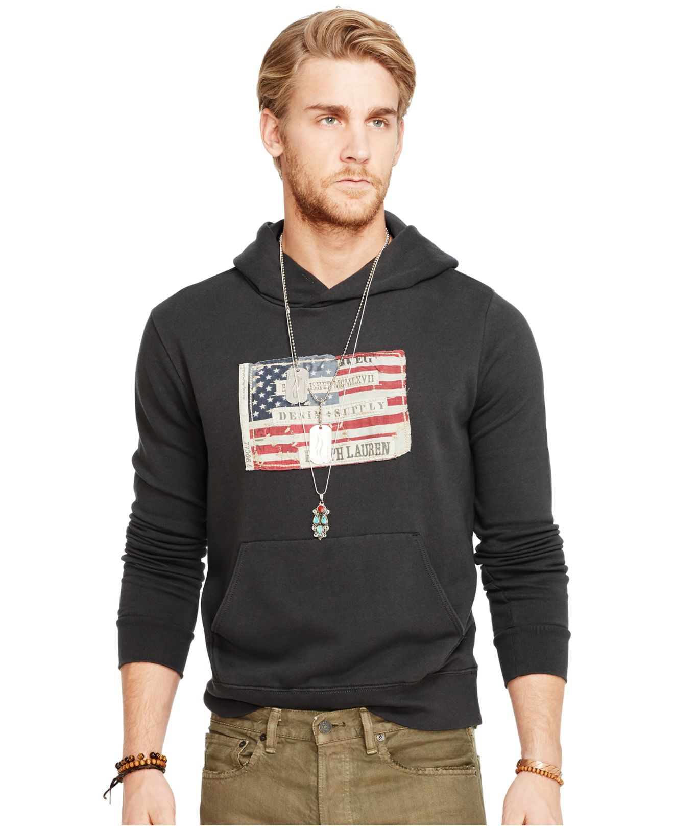 pretty cheap sold worldwide more photos American Flag-inspired Hoodie