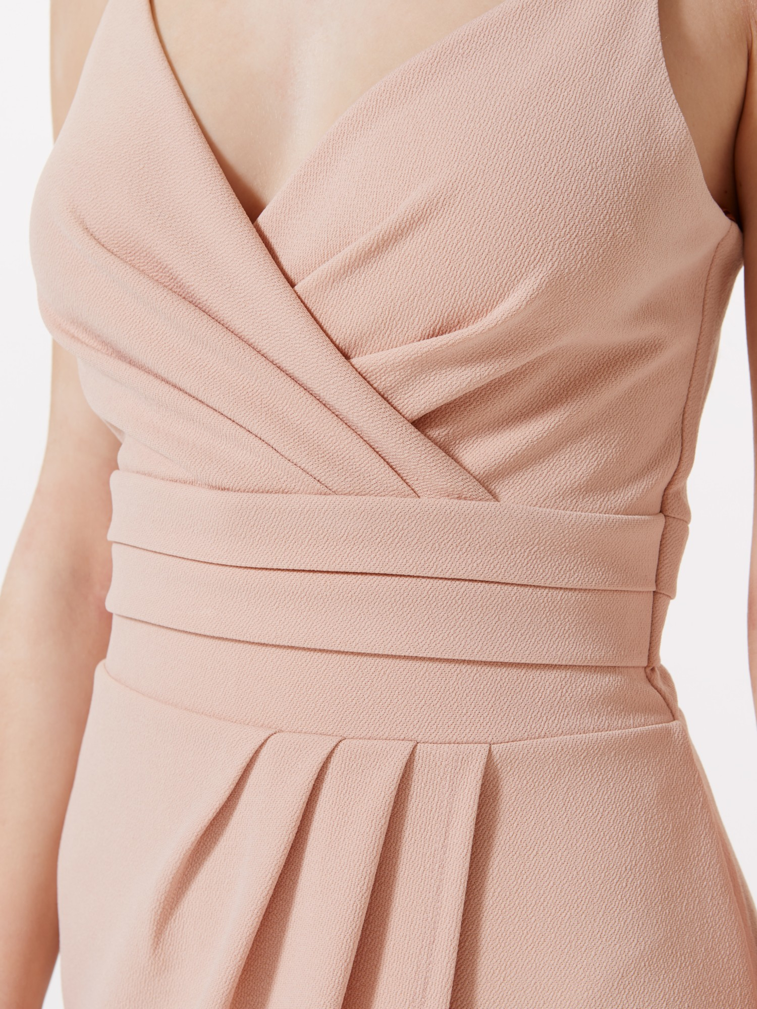 Miss Selfridge Strappy Pencil Wrap Dress in Natural - Lyst